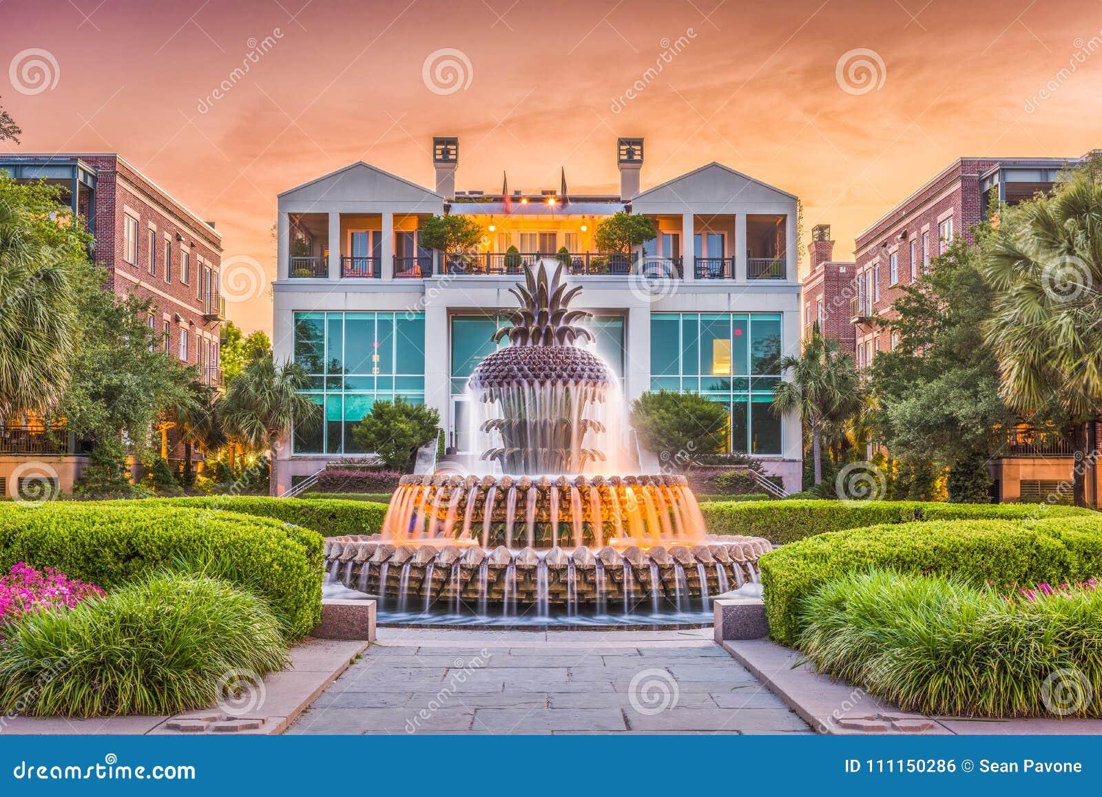 Fontaine de Charleston, la Caroline du Sud, Etats-Unis