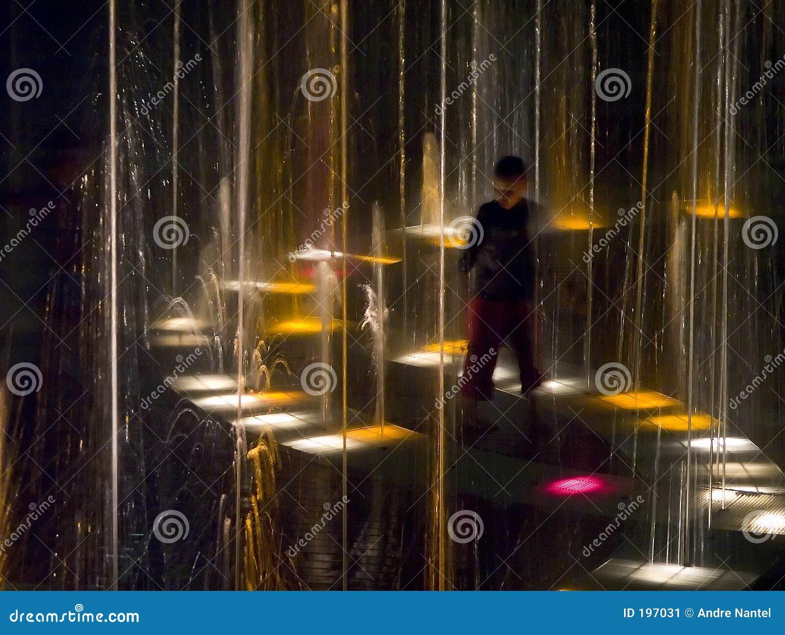 Fontaine de lumière