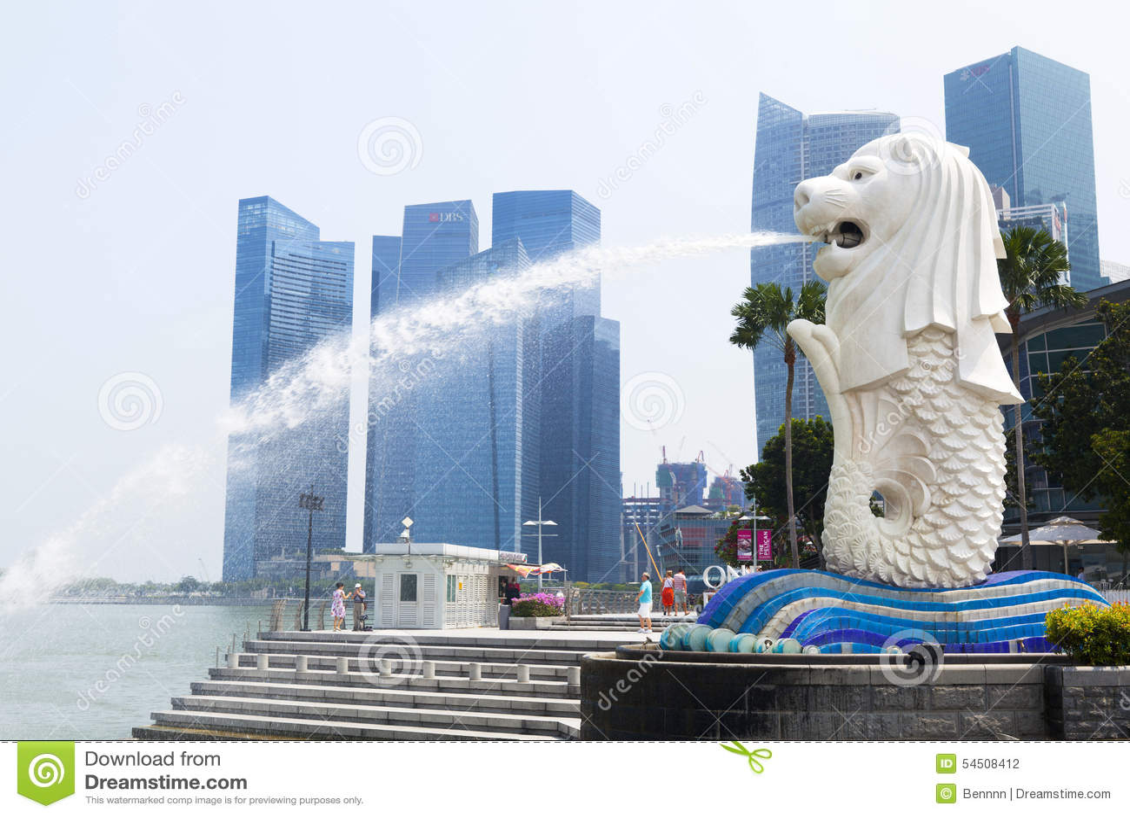 Fontaine de Merlion à Singapour