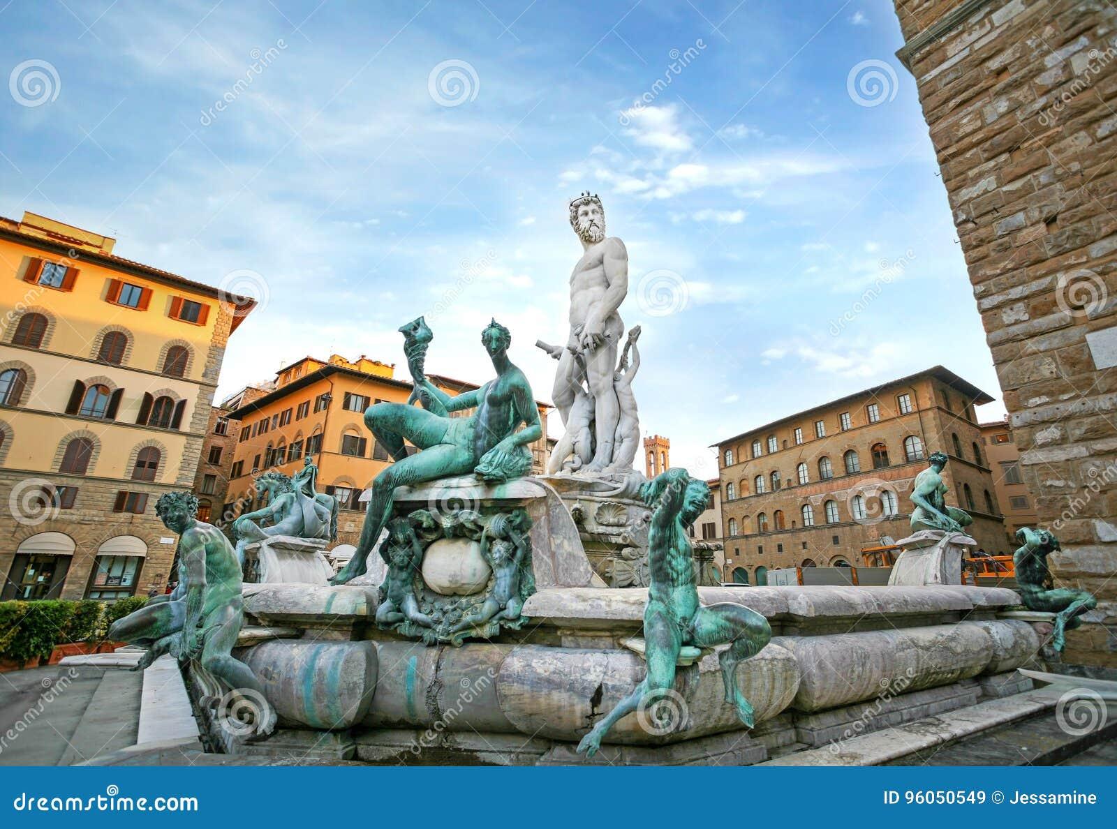 Fontaine de Neptune à Firenze