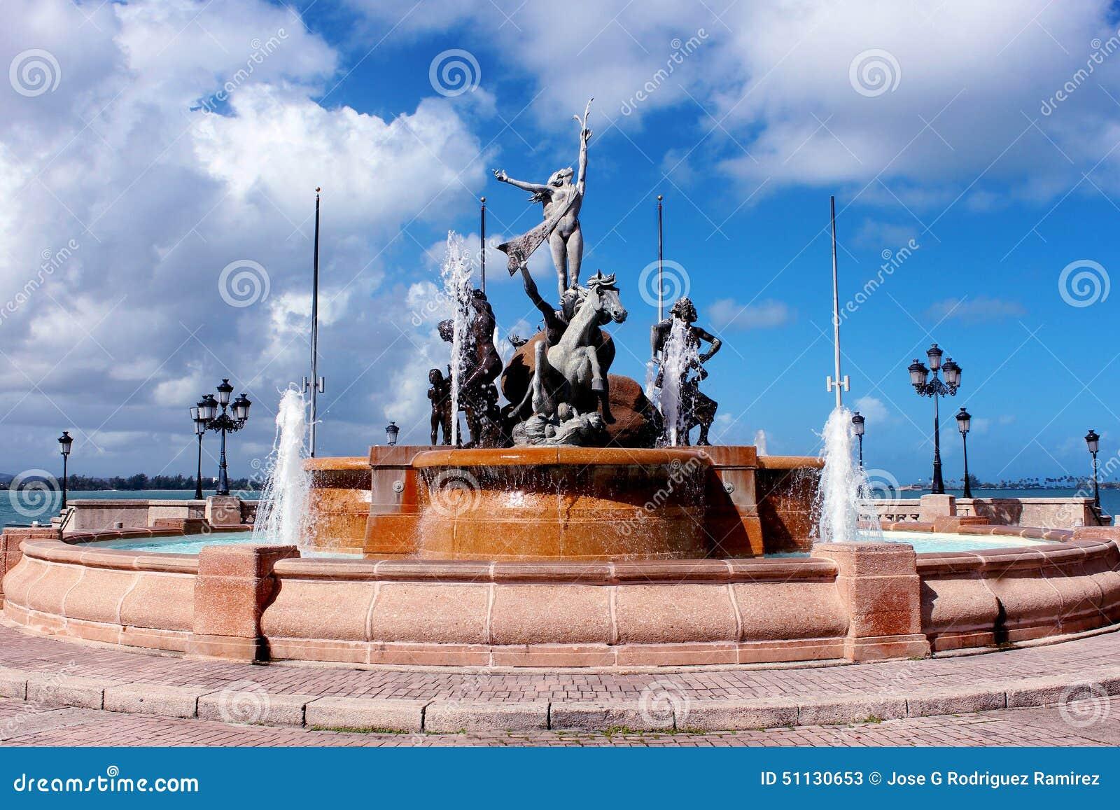 Fontaine de RaÃces, vieux San Juan