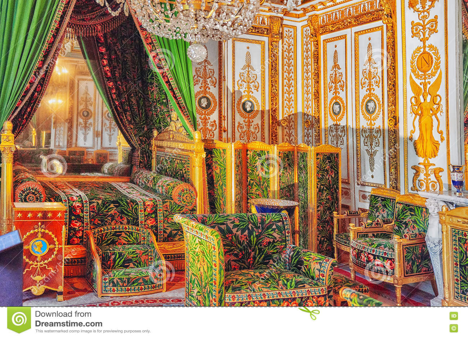 Fontainebleau Palace . Stock Photo