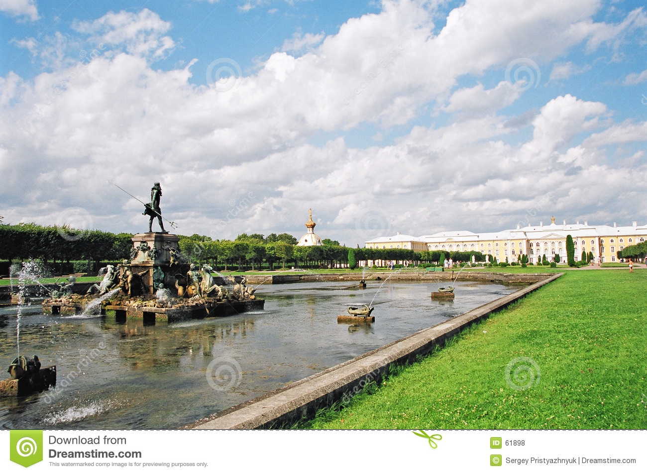 Download Fontaines. photo stock. Image du russia, figure, histoire - 61898