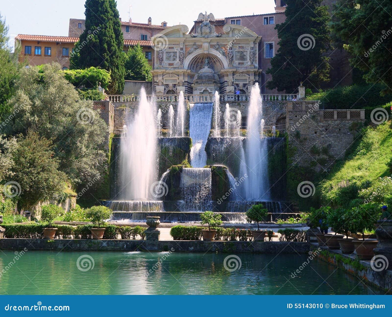 Fontaines villa d 39 este tivoli italie photo stock for Jardin villa d este