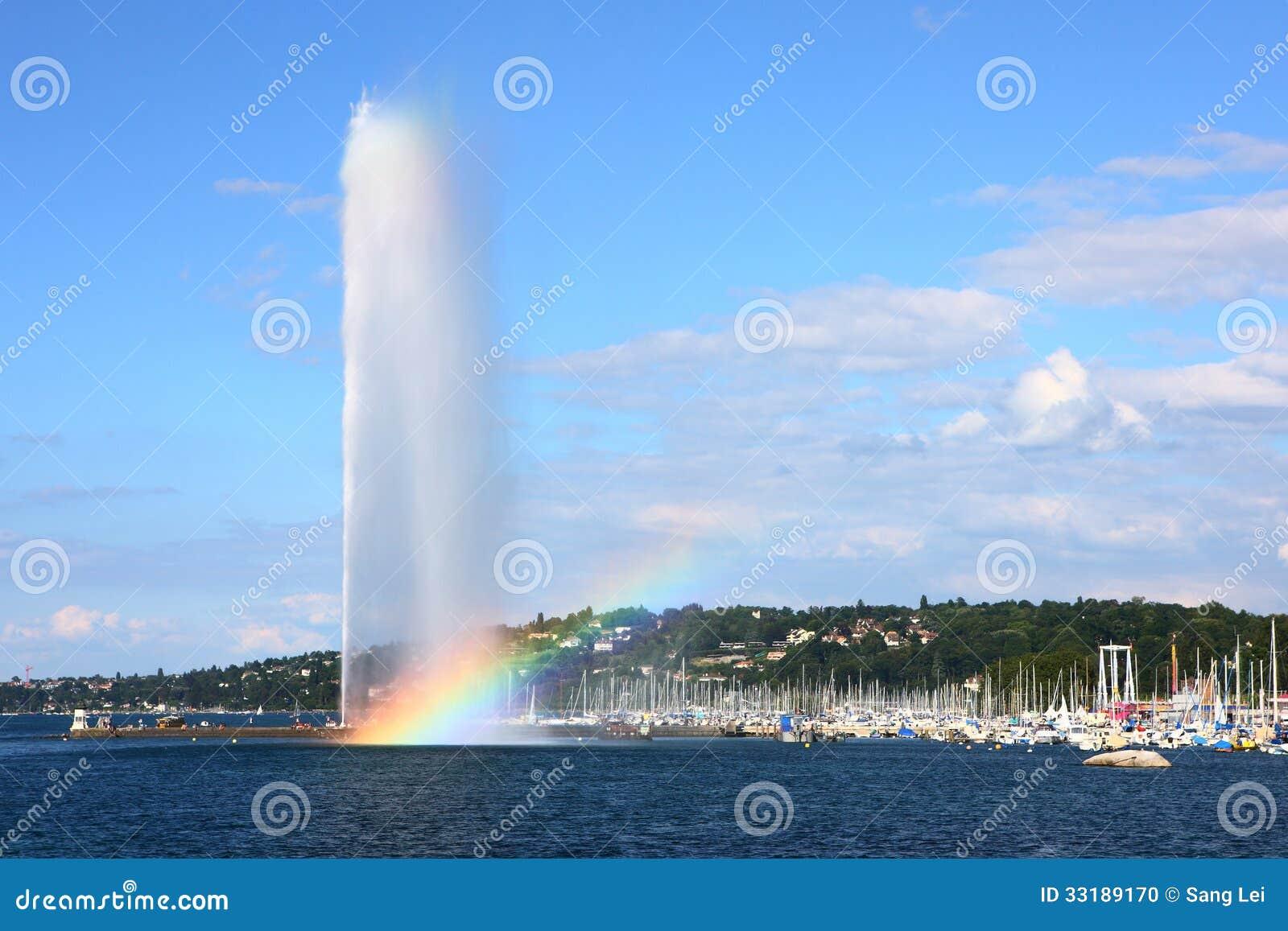 Fontana del lago Lemano