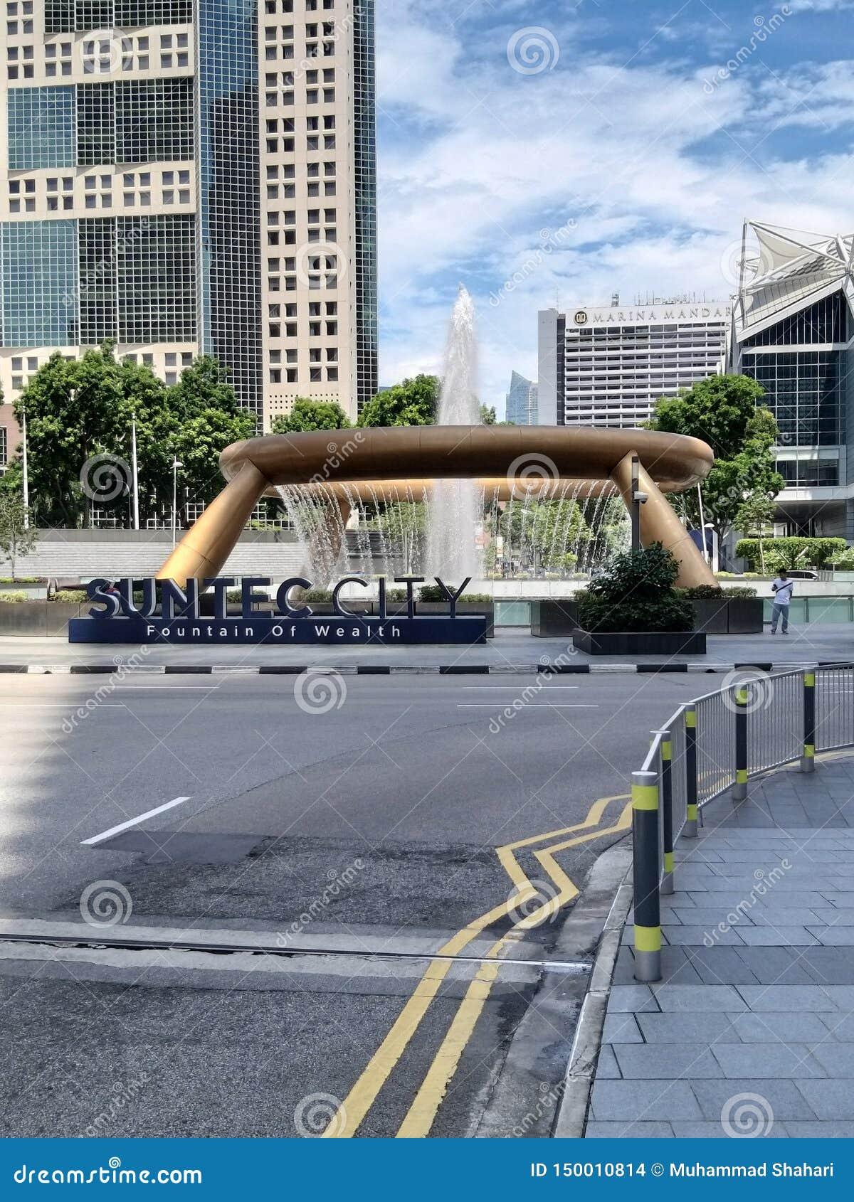 Fontana della citt? di Suntec di ricchezza