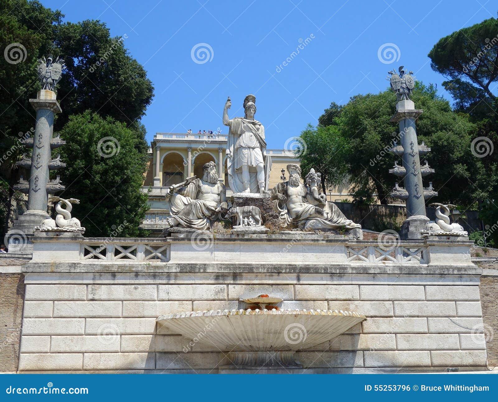 Fontana di Nettuno, Piazza del Popolo, Roma