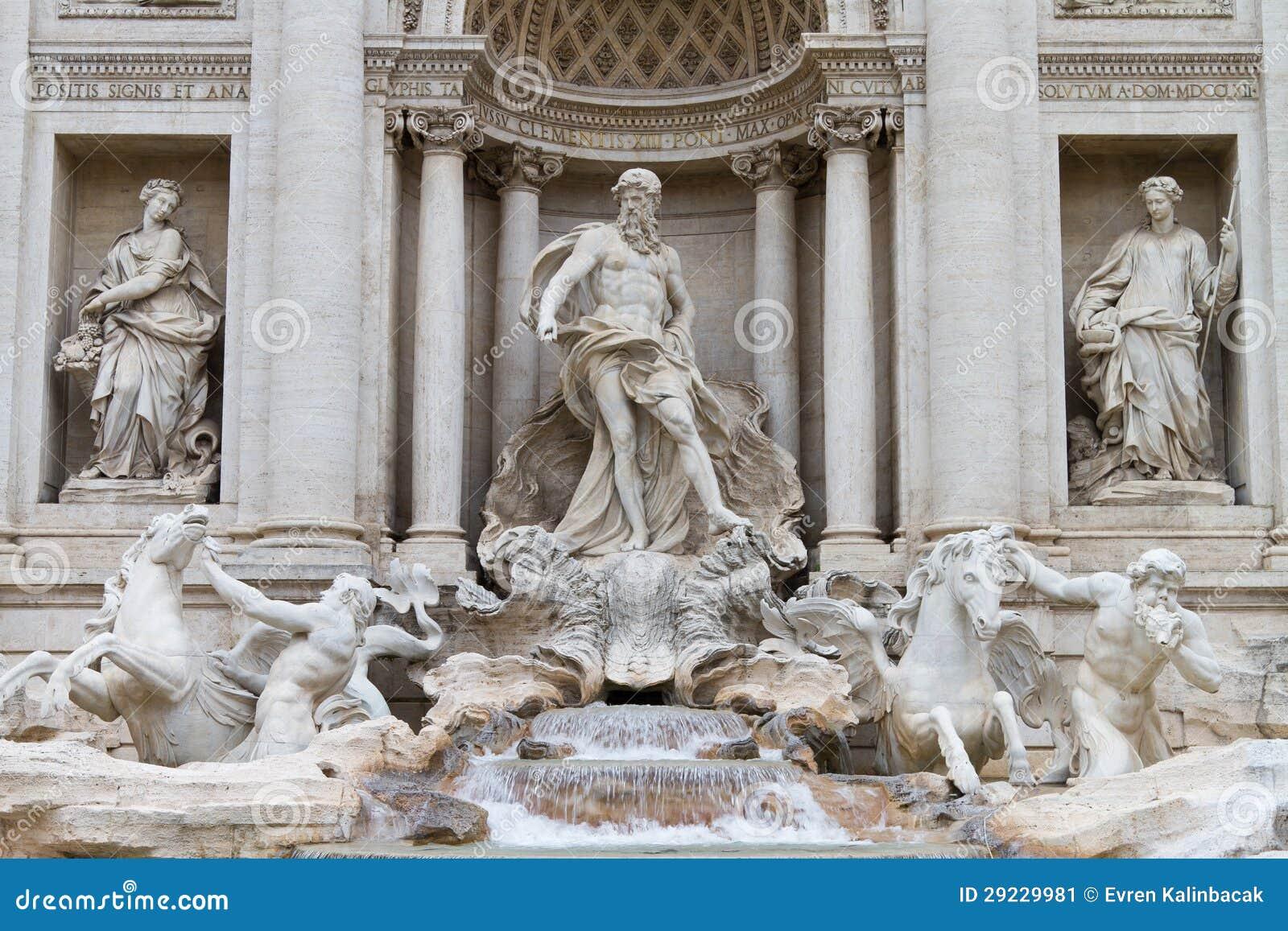Download Fontana di Trevi imagem de stock. Imagem de colunas, coluna - 29229981