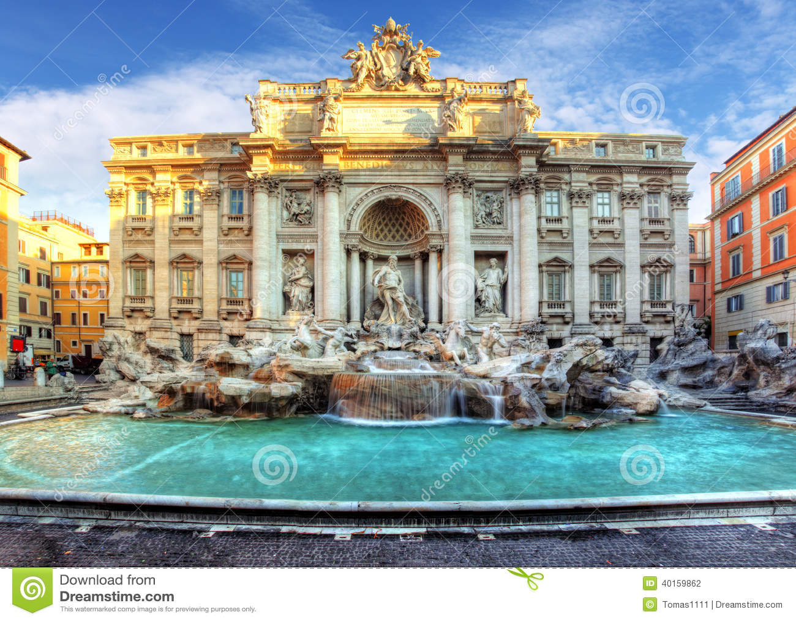 Fontana di Trevi, Roma, Italia.