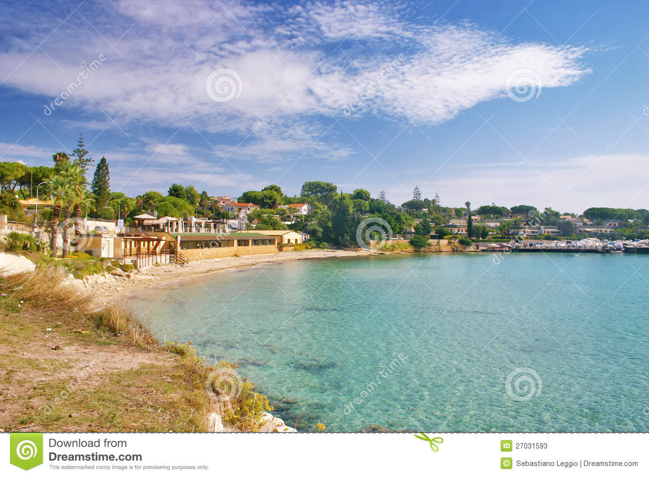 Fontane Bianche Italy  city photo : Fontane Bianche Beach In Sicily Stock Photos Image: 27031593