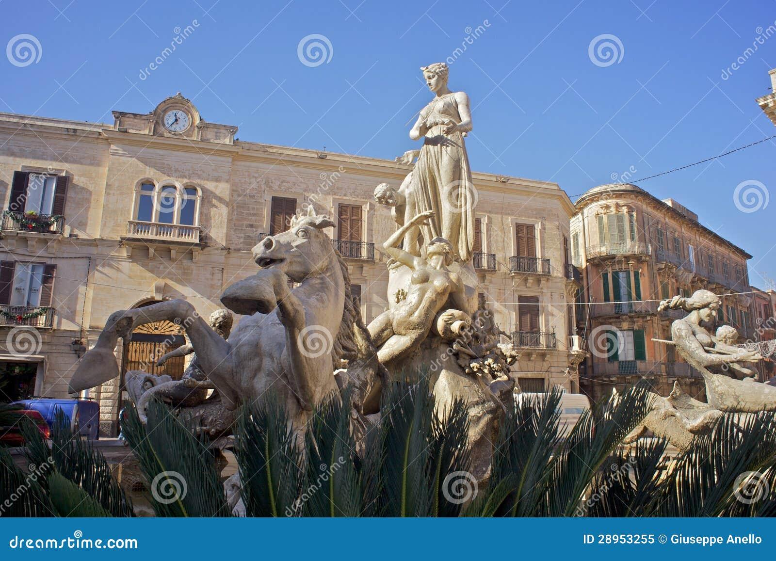 Fontanna Artemis, Syracuse