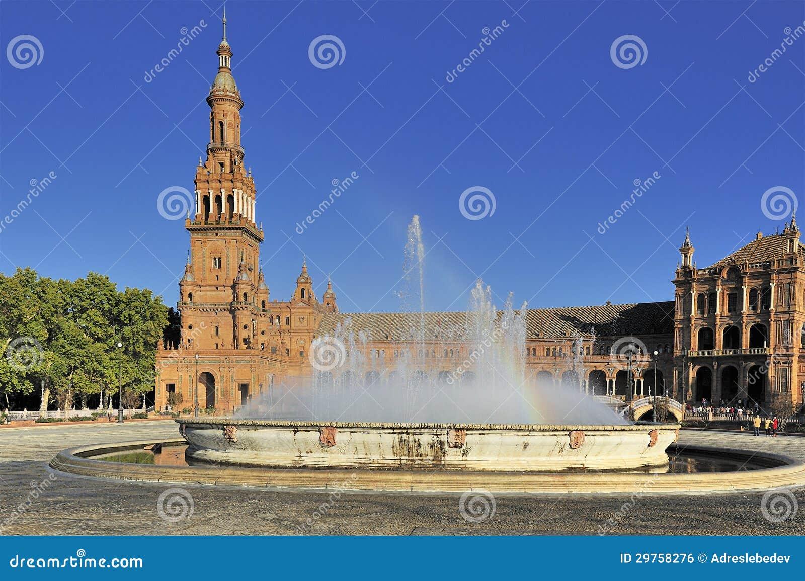 Plac De Espana, Seville, Hiszpania (Hiszpania Obciosuje)