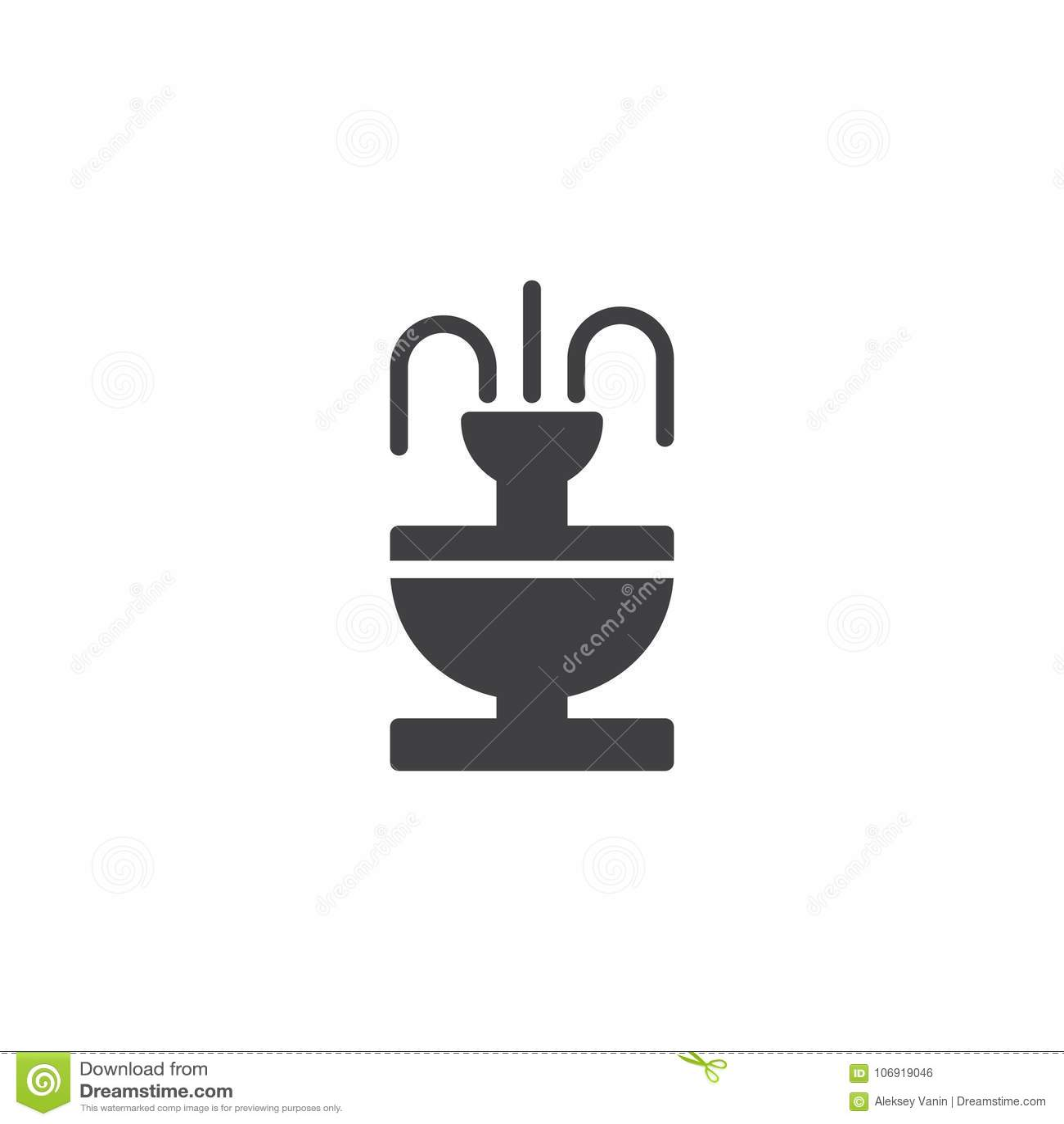 Fontanny ikony wektor