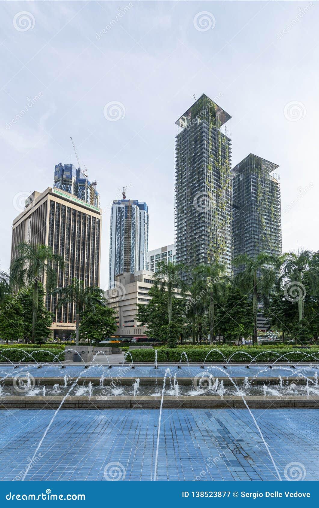 Fontanny w Kuala Lumpur
