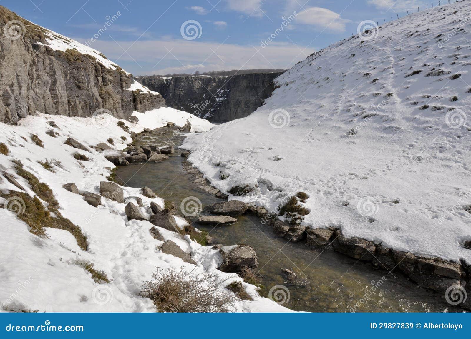 Fonte de rio de Nervion, Espanha
