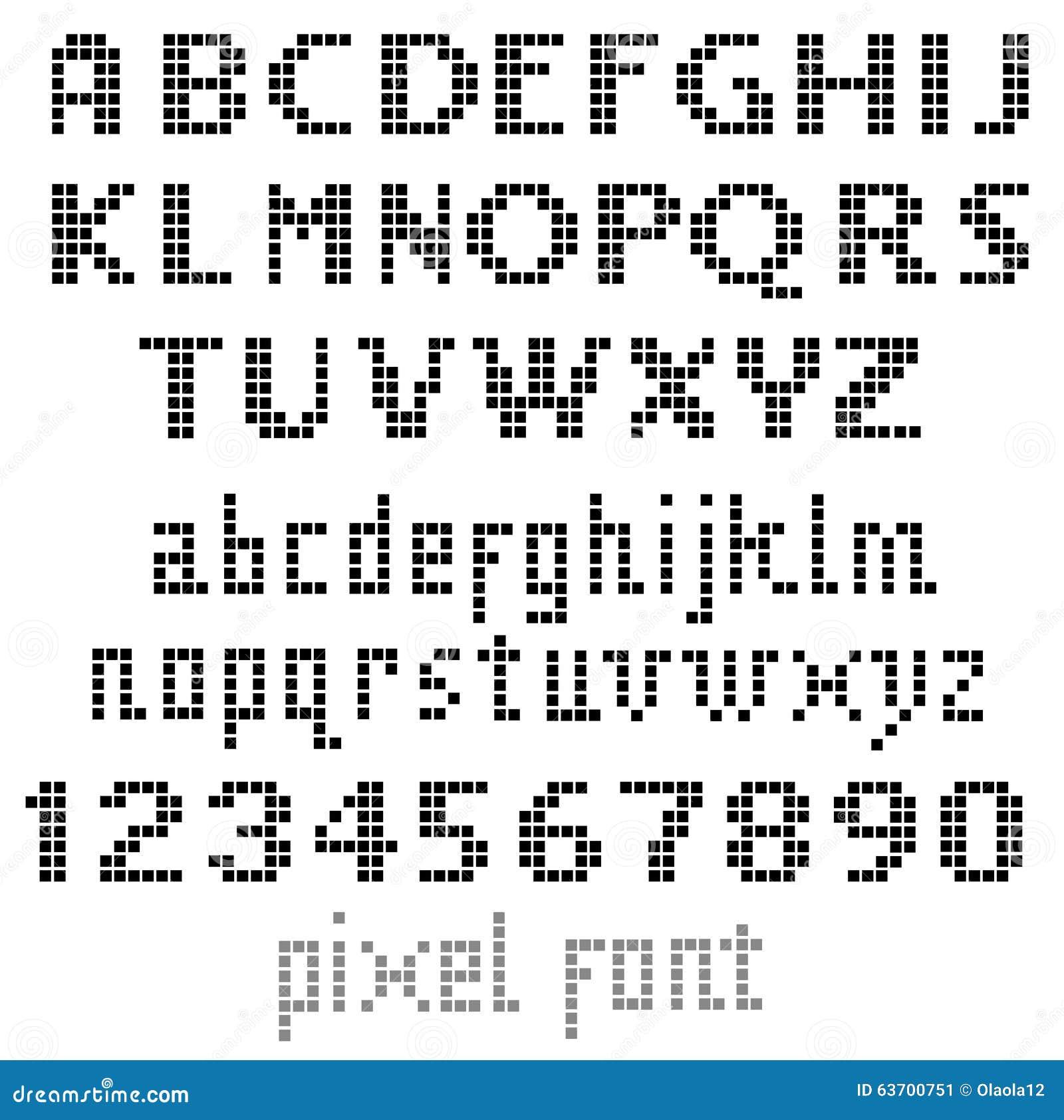 Fonte Do Pixel Ilustração Do Vetor. Ilustração De ícone
