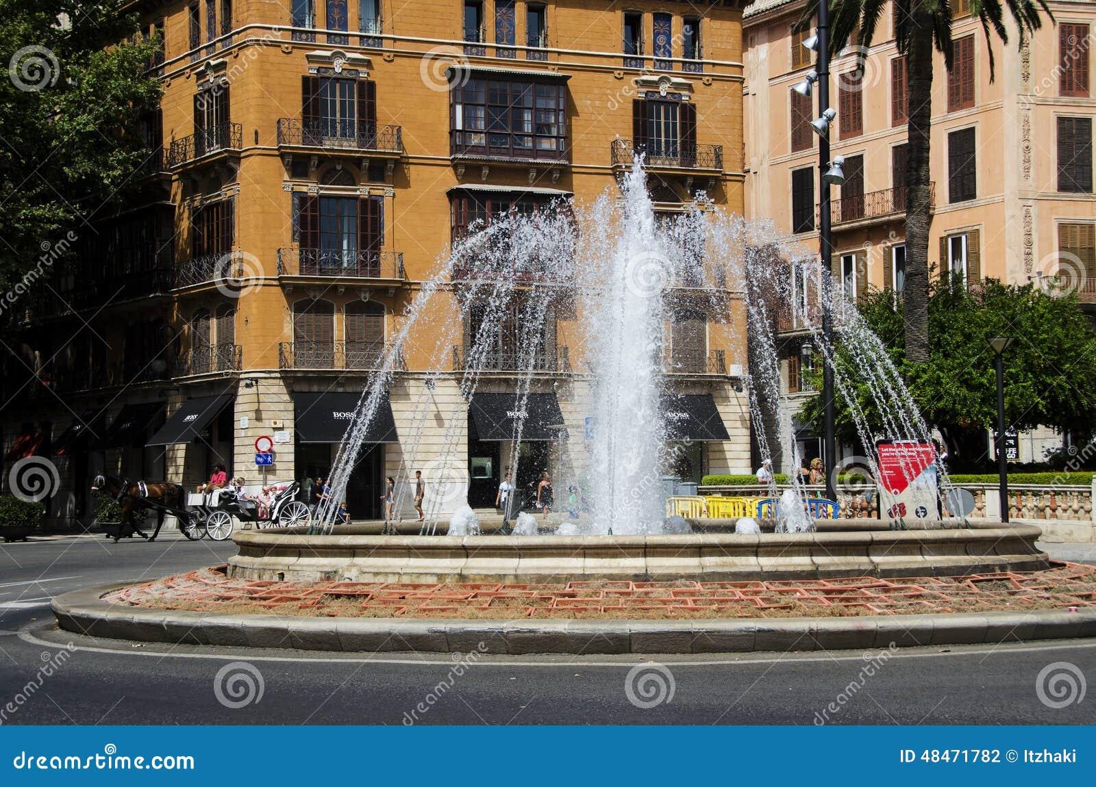 Fonte em Palma de Mallorca, Espanha