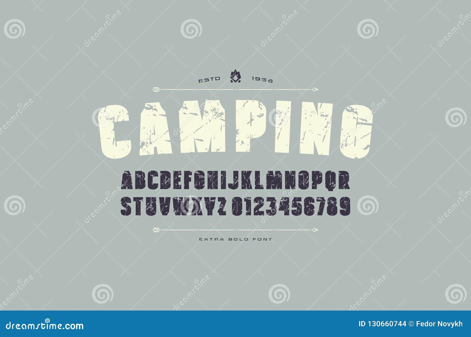 Fonte estreita de Sans Serif do vetor do estoque