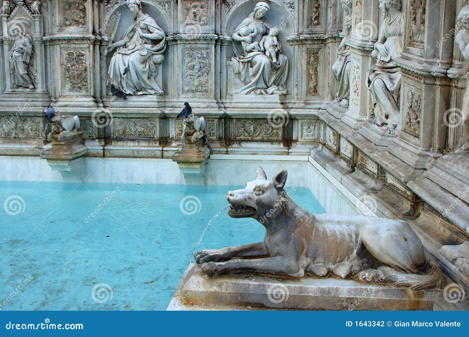 Fonte gaia siena stock photo image of artistic - Fontaine exterieure fonte ...