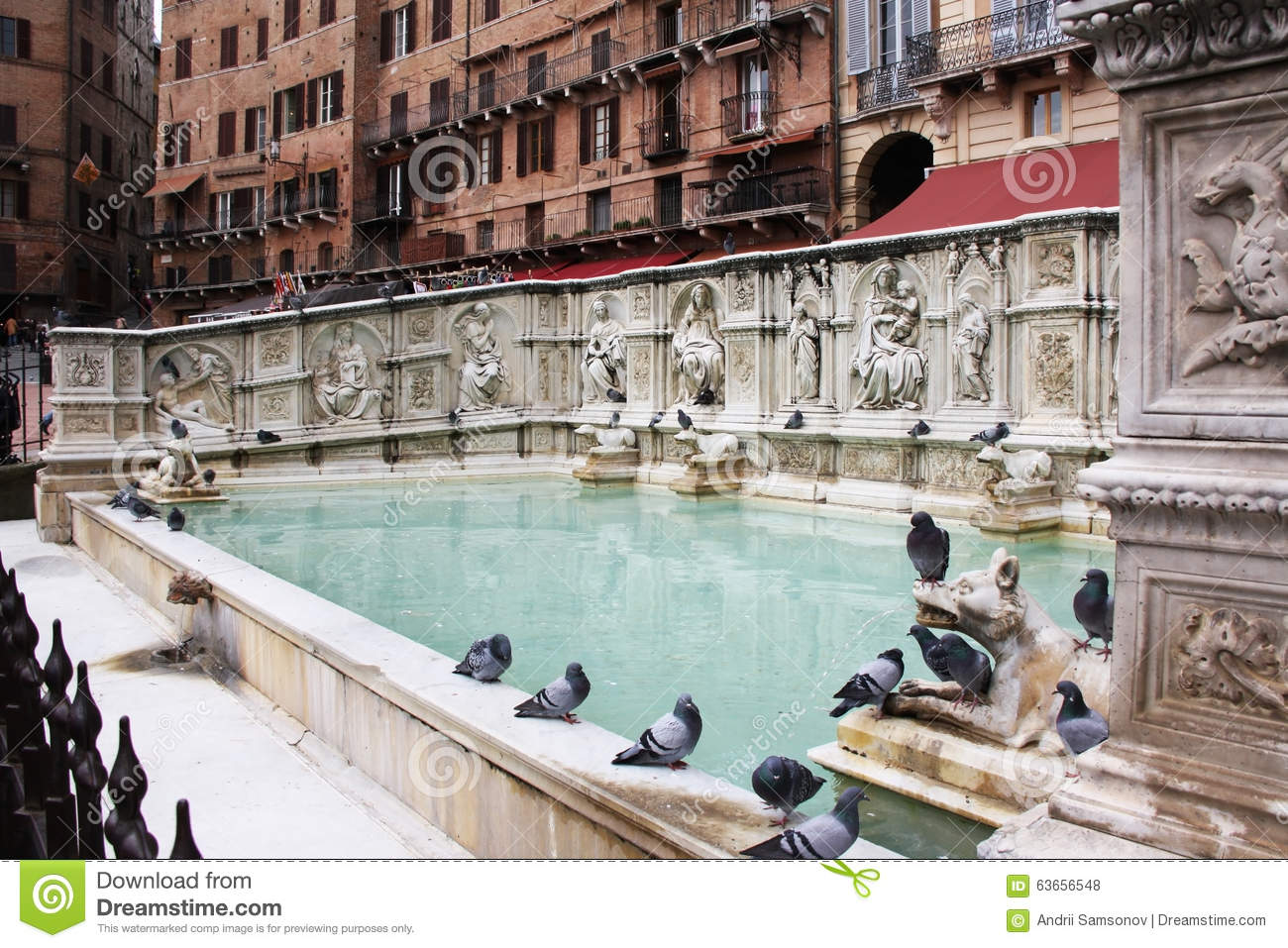 Fonte gaia siena stock photo image of beautiful 19th - Fontaine exterieure fonte ...