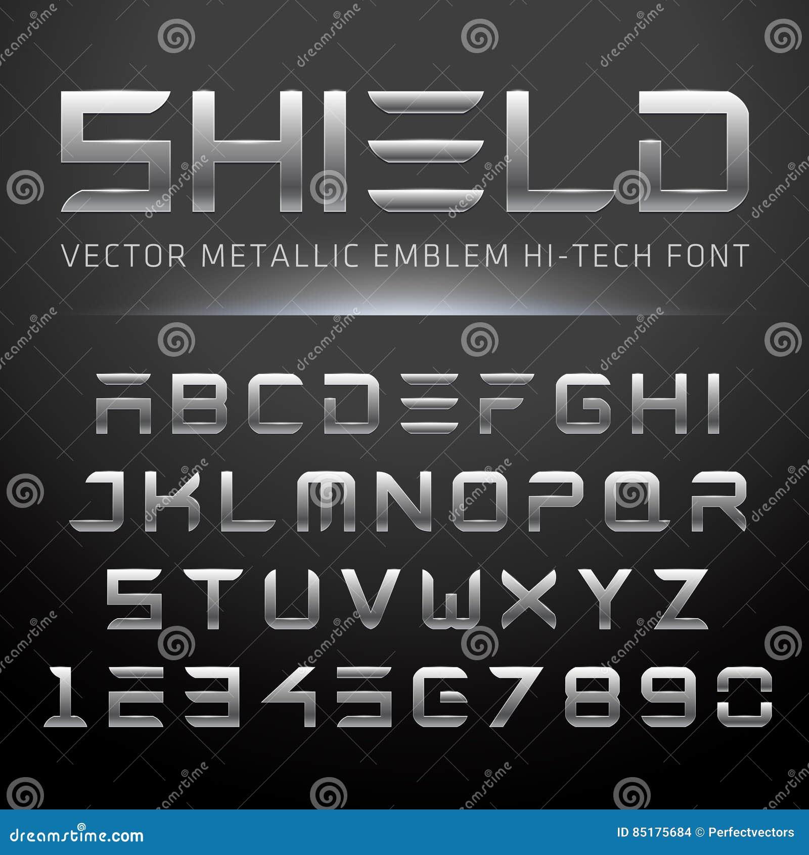 Fonte metálica moderna da Olá!-tecnologia
