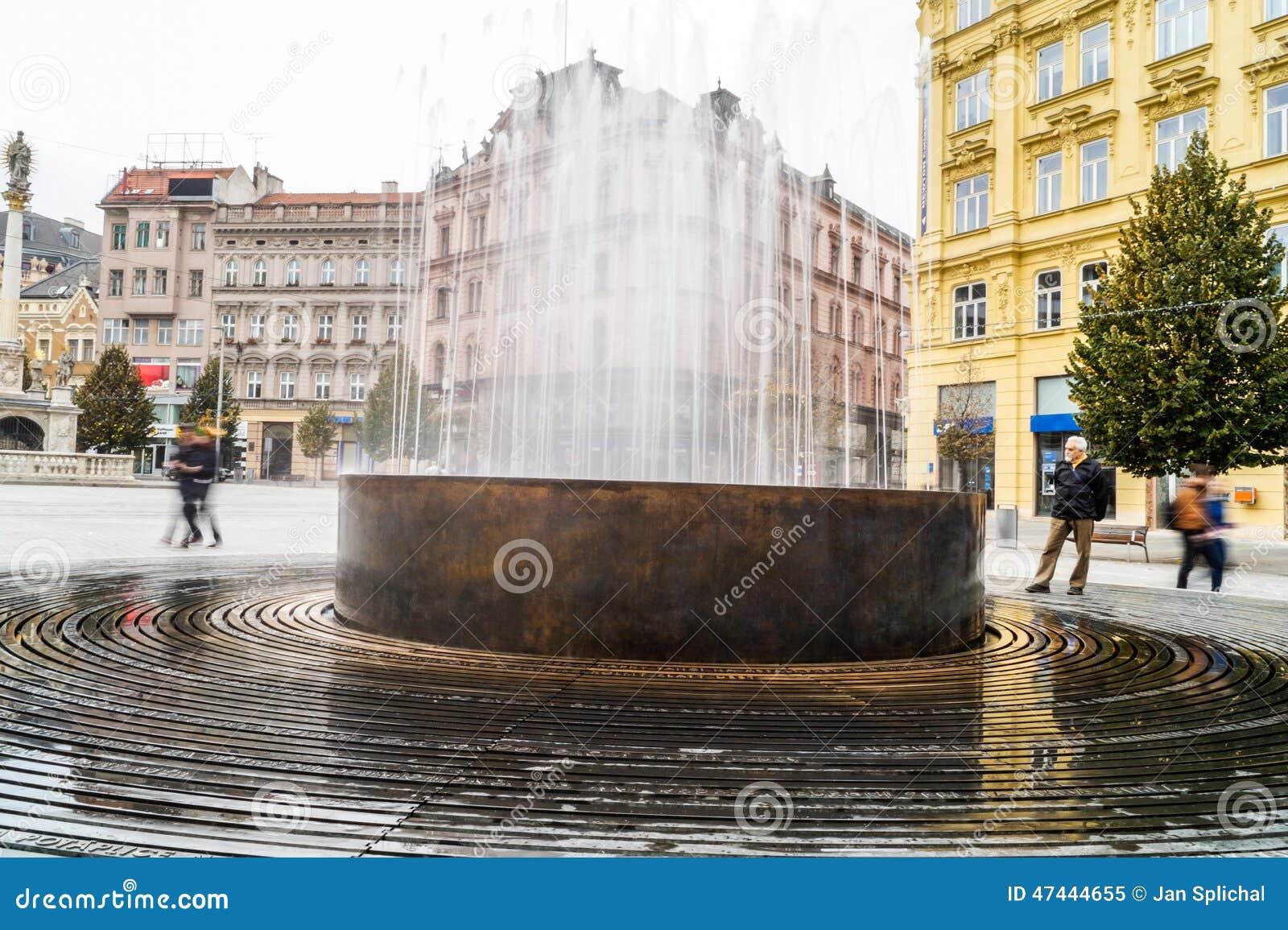 Fontein in Brno - hoofdvierkant