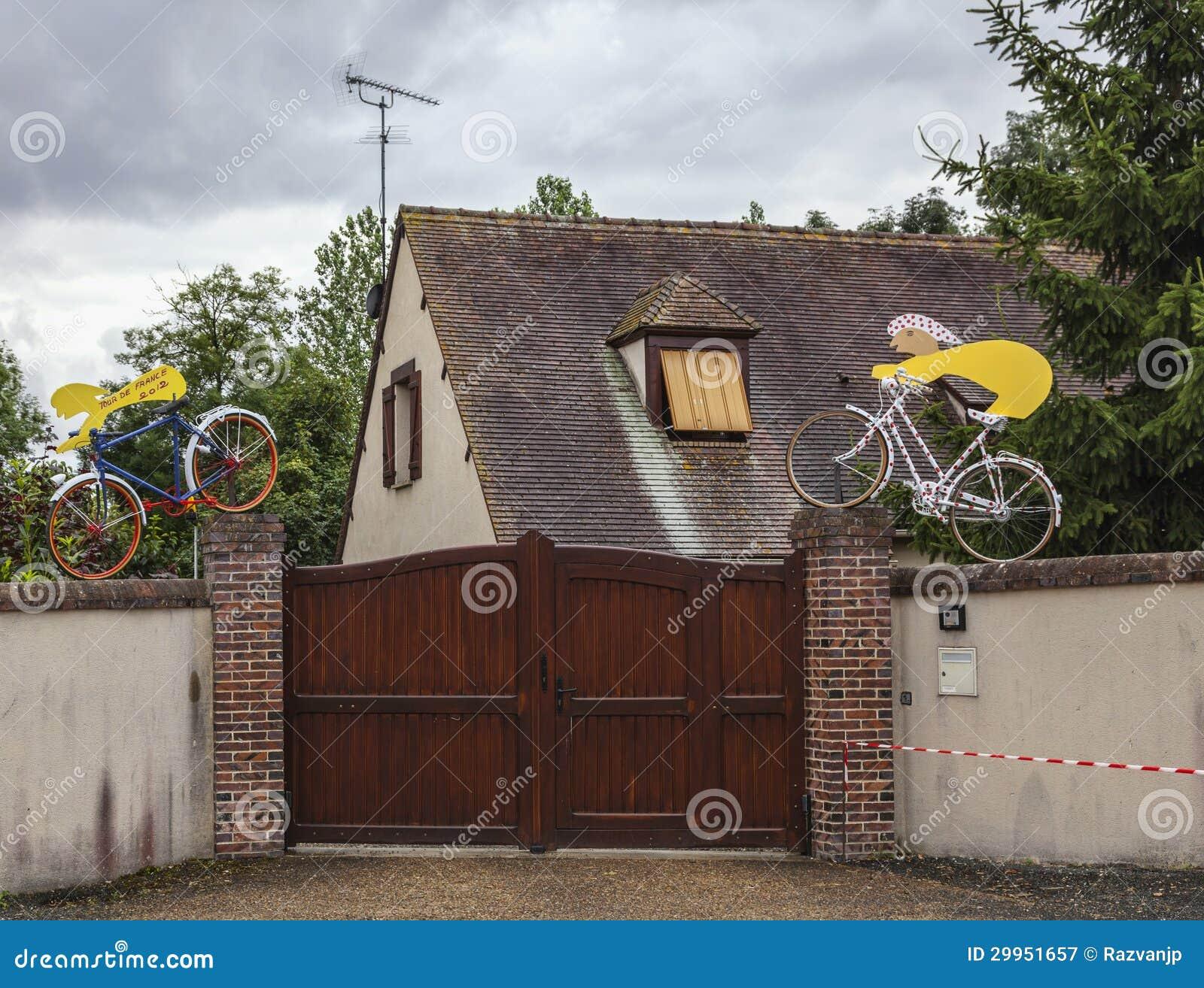 在Le环法自行车赛期间的吉祥人