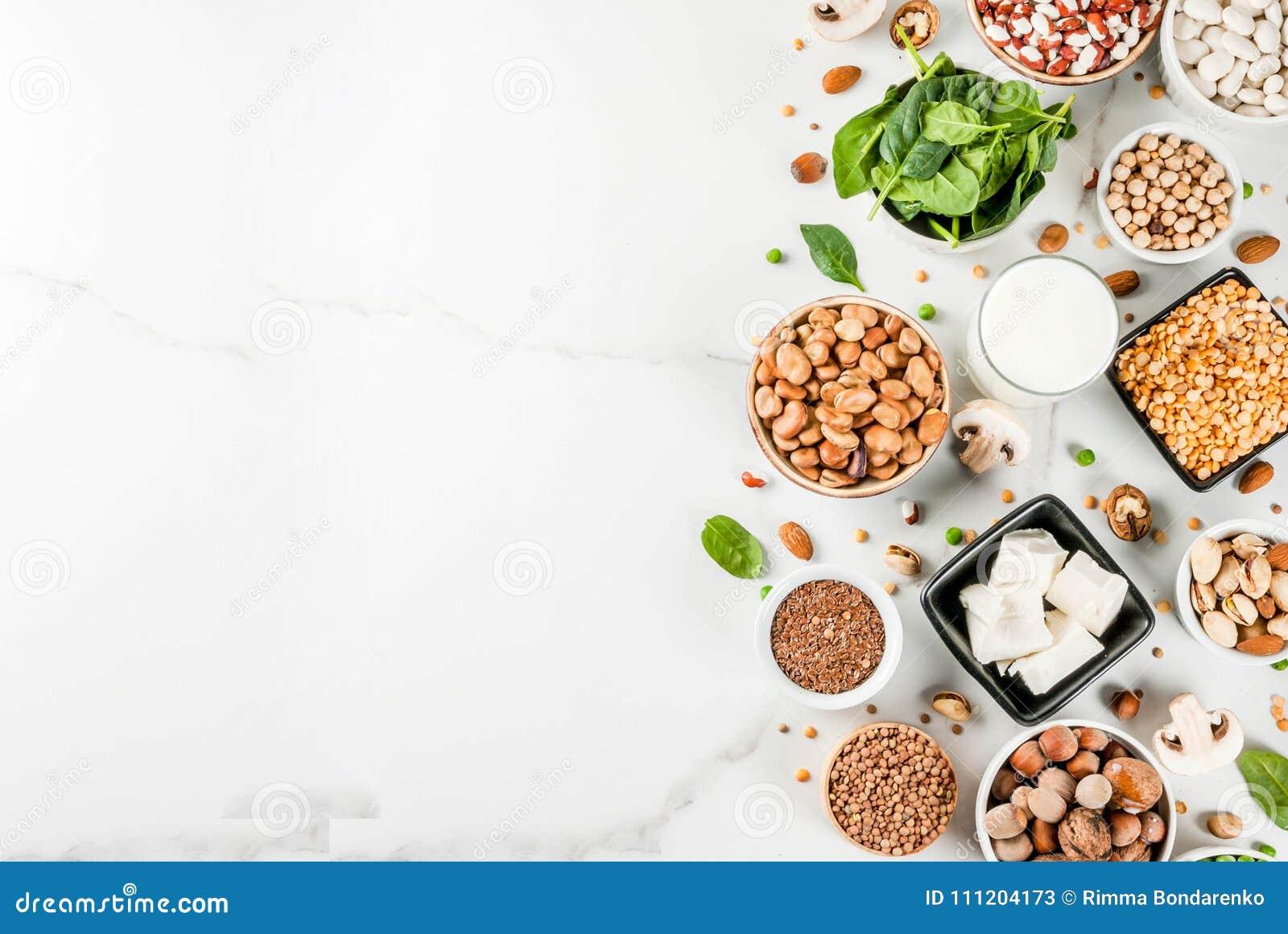 Fontes da proteína do vegetariano