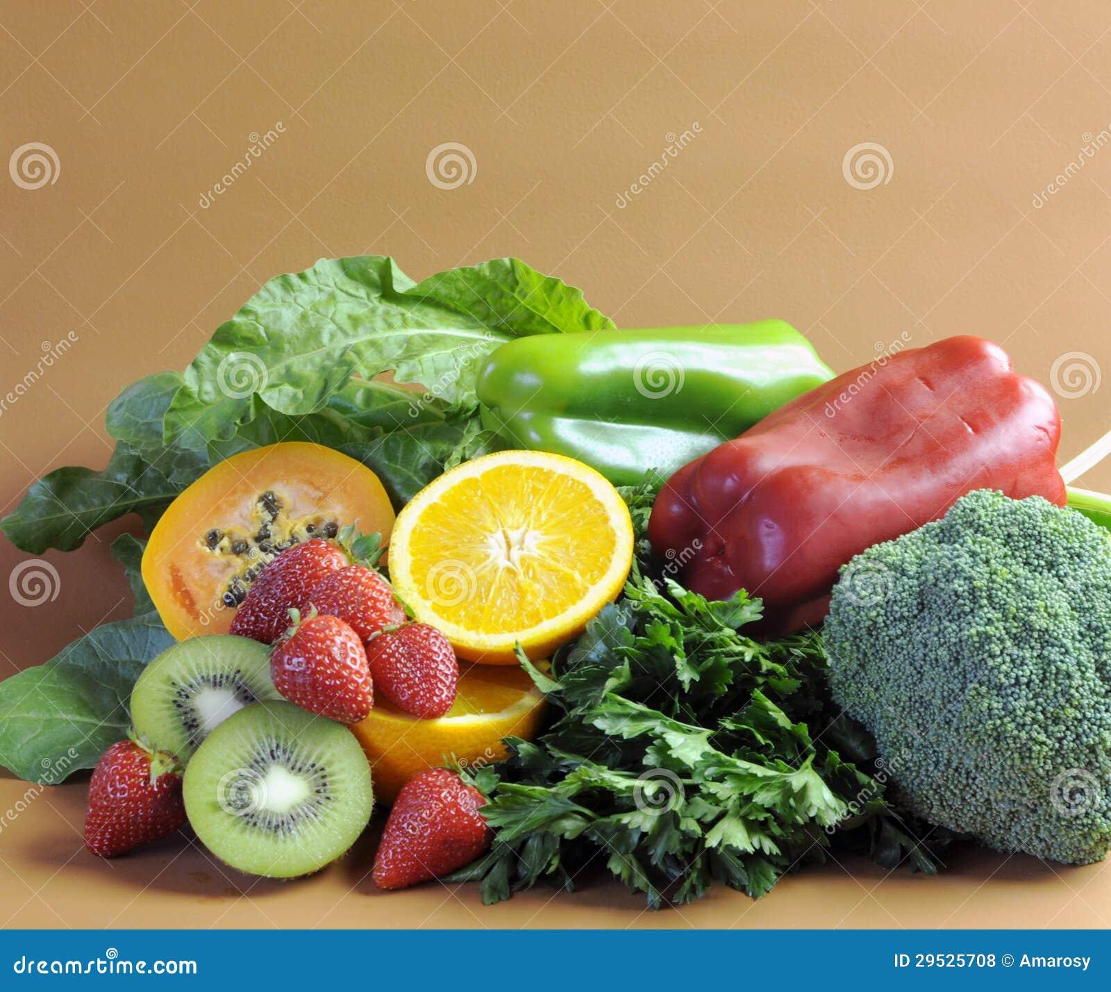 Fontes da vitamina C para a dieta saudável da aptidão