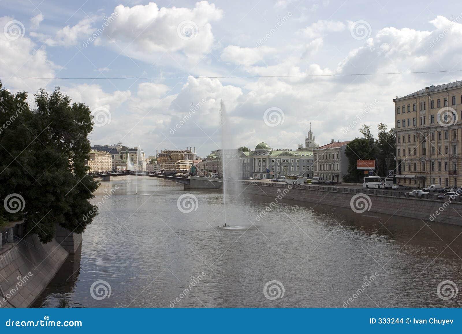 Fontes no rio