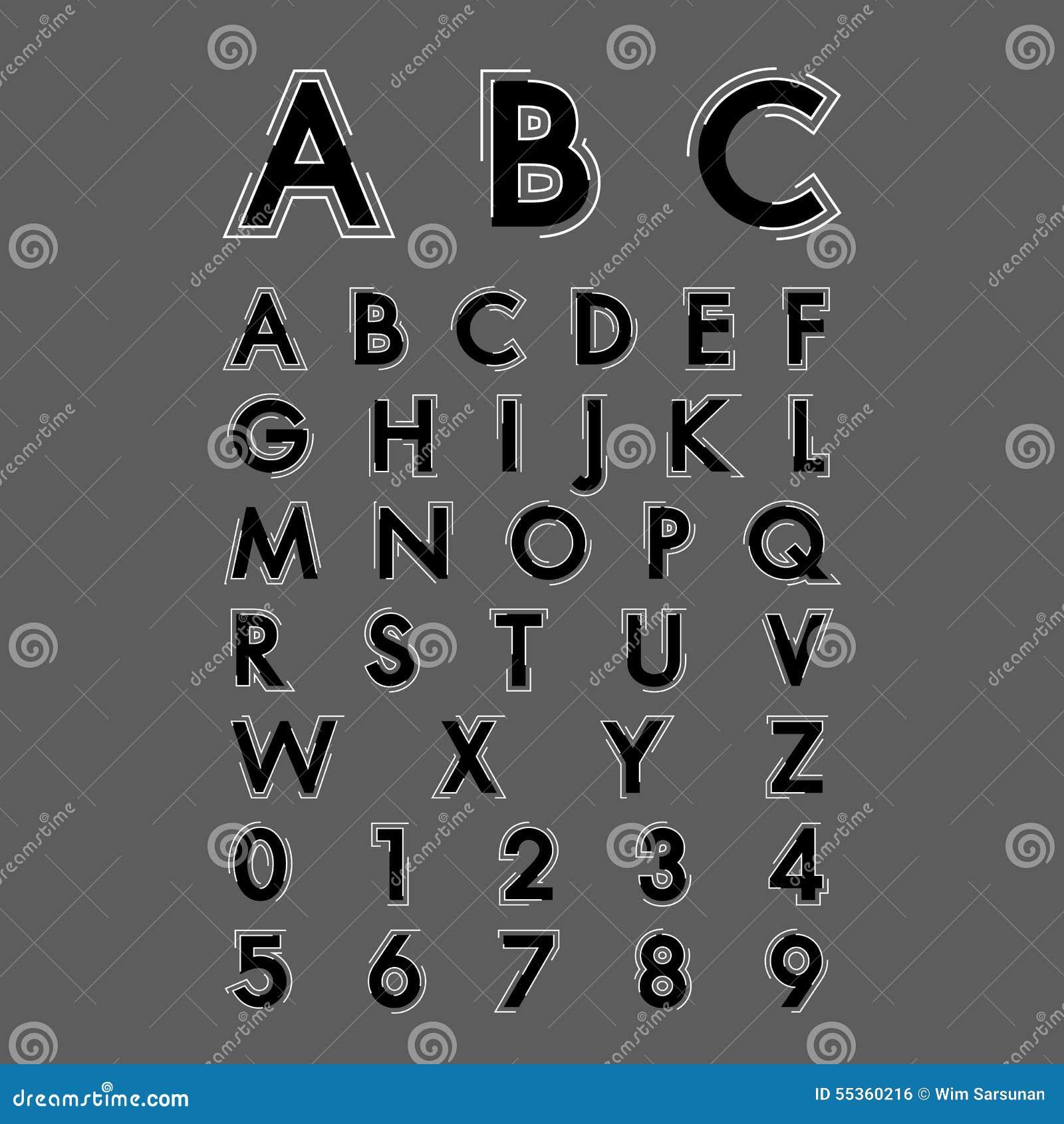 Fonti alfabetiche e numeri