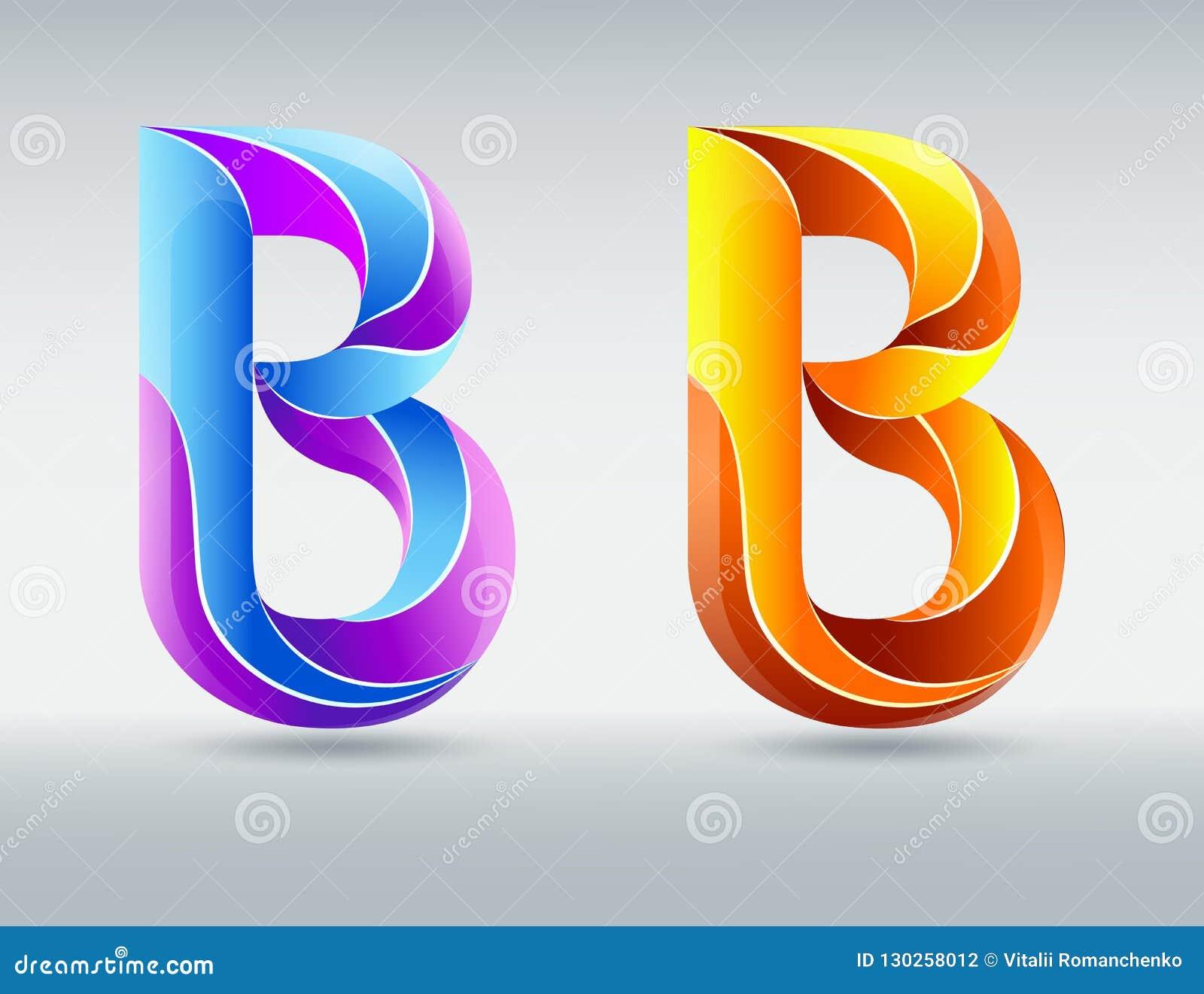 Fonti Di Logo Lettera B Di Vettore Fonte Torta Creativa 3D