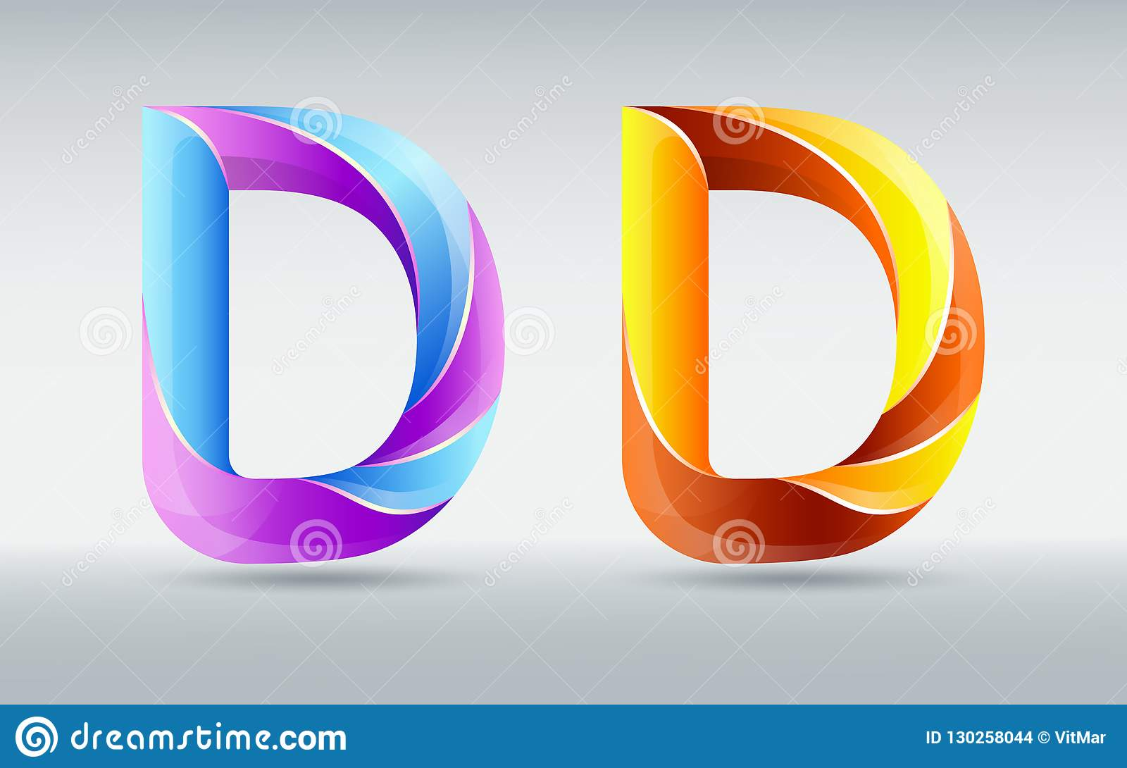Fonts  Creative Twisted Letter D  Abstract 3D Font  Caramel