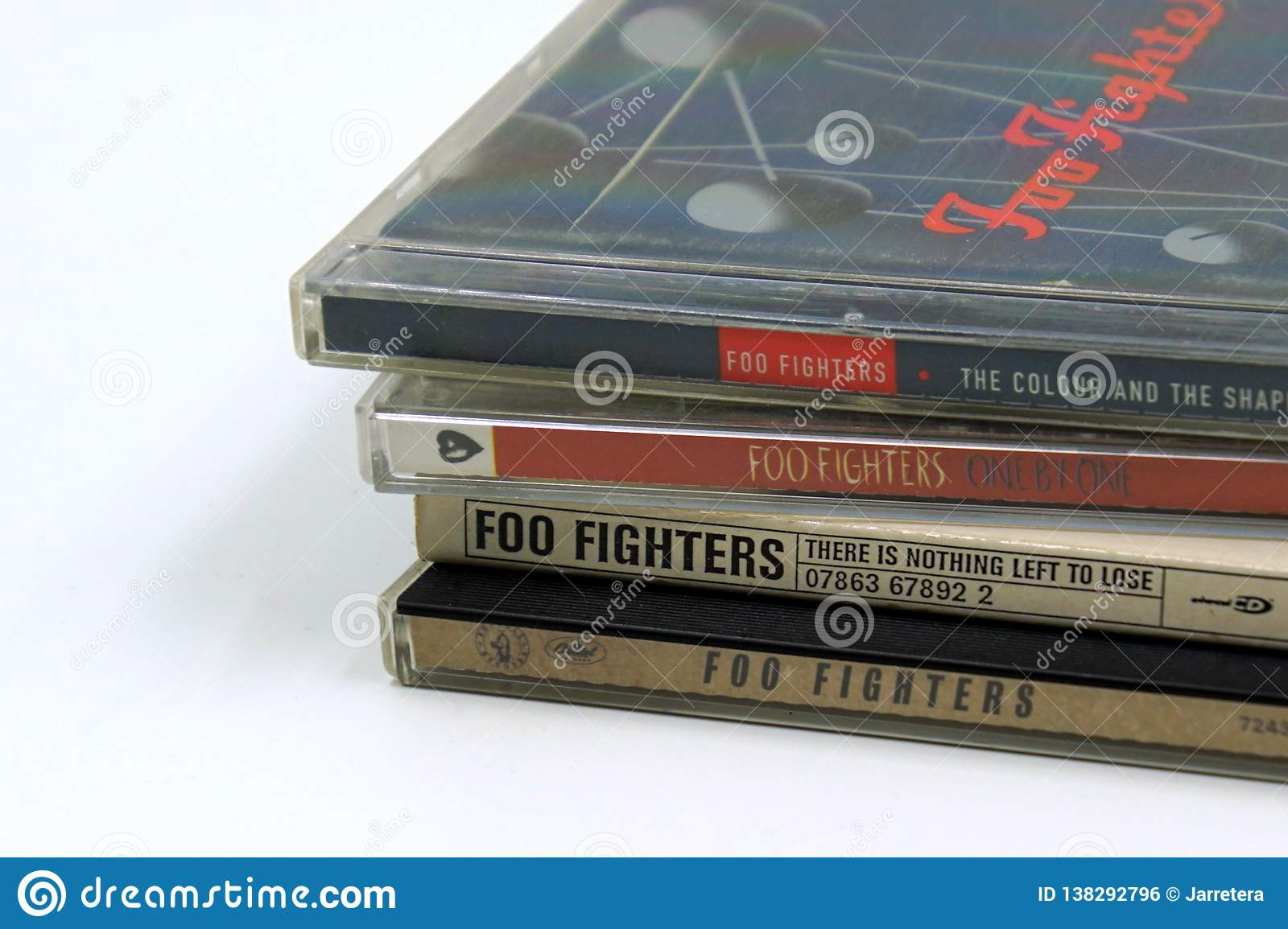 Foo Fighters CD albums  editorial photo  Image of colour - 138292796