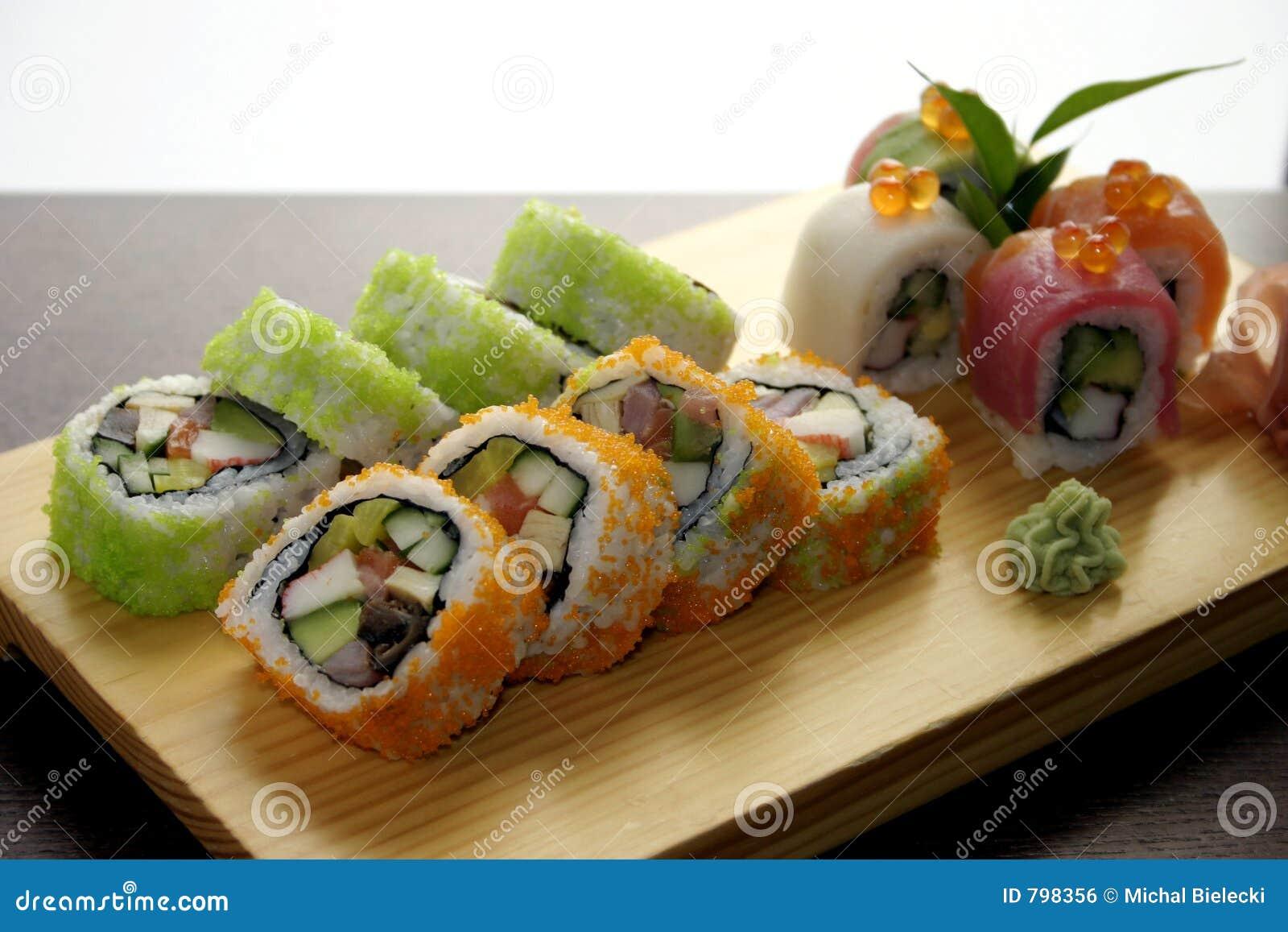 Foo japonais traditionnel de sushi