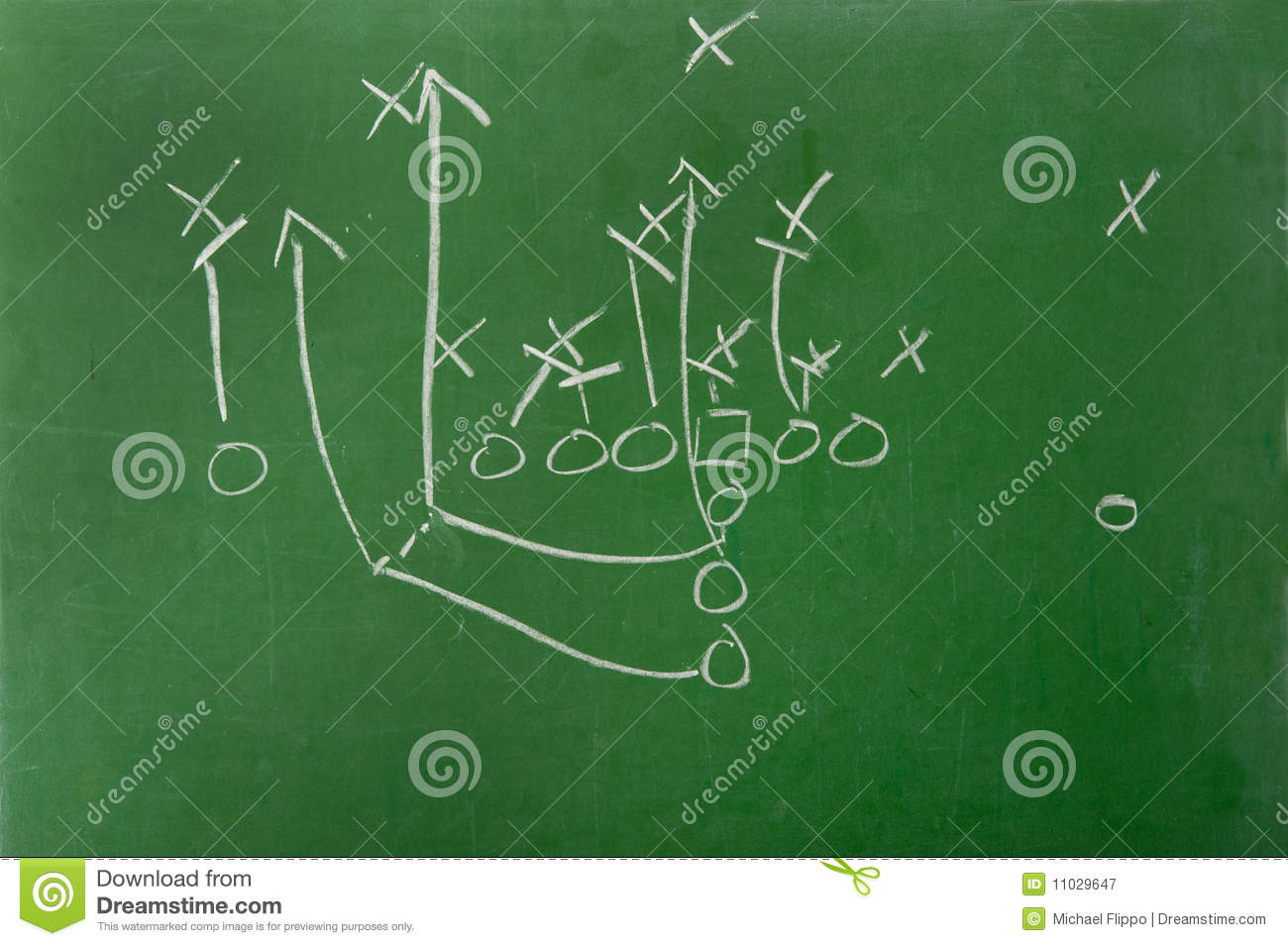 Fooball Play Diagram On Chalkboard Royalty Free Stock Photography ...