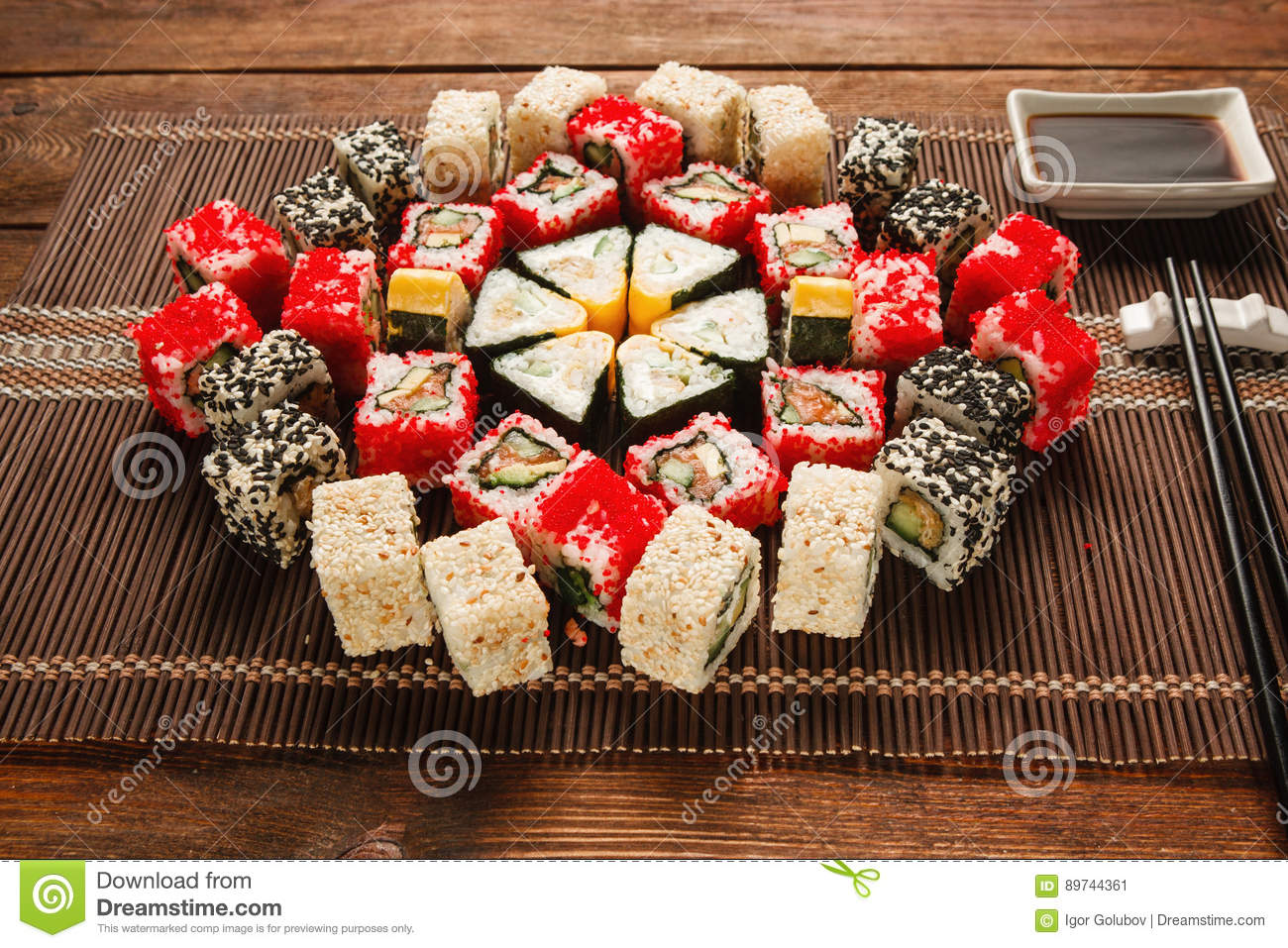 Food Art Colorful Sushi Ornament Japanese Food Stock Image Image Of Roll Fish 89744361