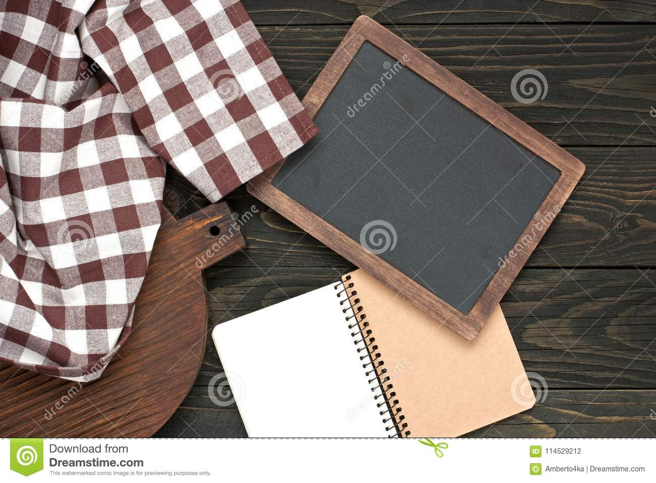 Background with kitchen board towel and recipe notebook stock photo download background with kitchen board towel and recipe notebook stock photo image of dark forumfinder Image collections