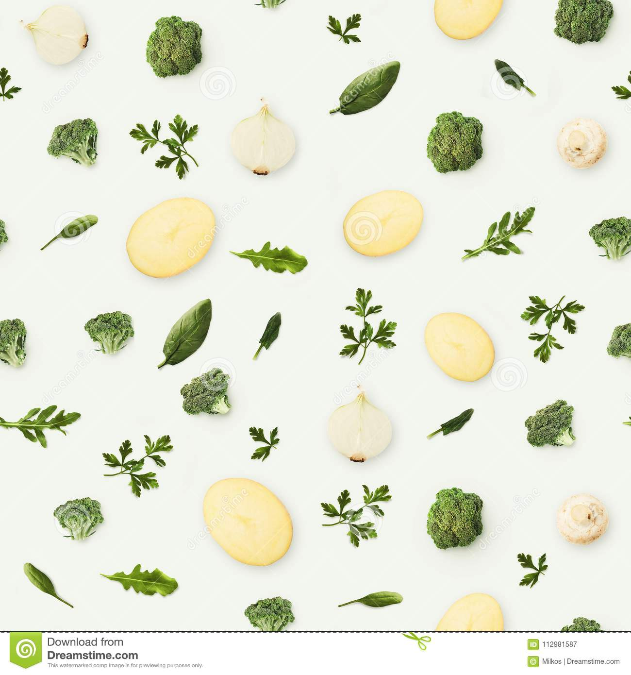 Food background and pattern of fruits and vegetables
