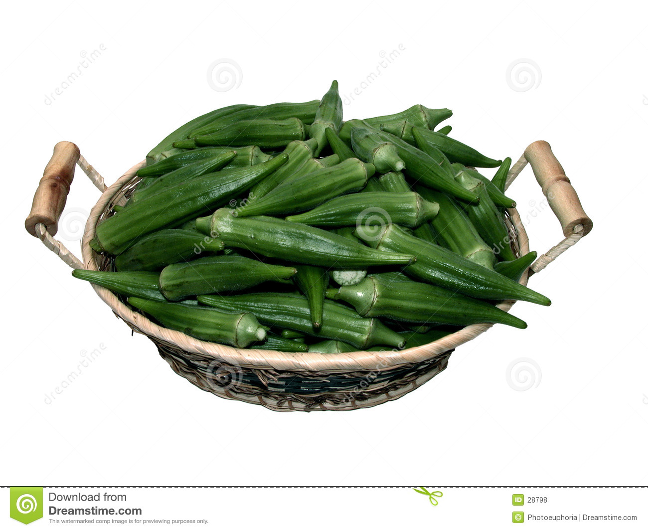 Food: Basket of Okra