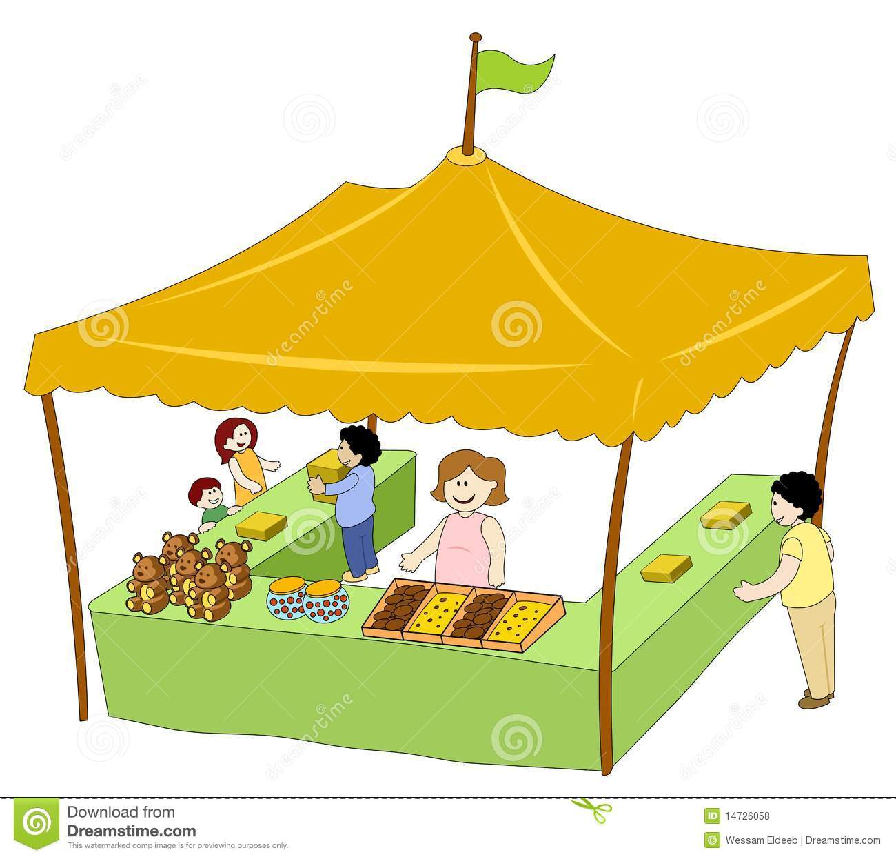Exhibition Stall Vector : Food beverage tent royalty free stock photos image