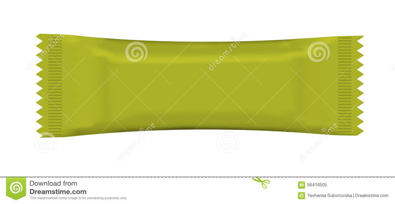 Food Blank Package Over White Background Stock Vector