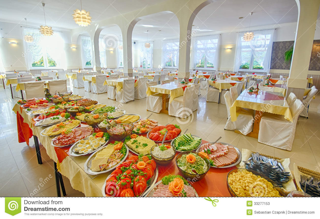 Food Buffet Stock Image Of Banquet Party Large