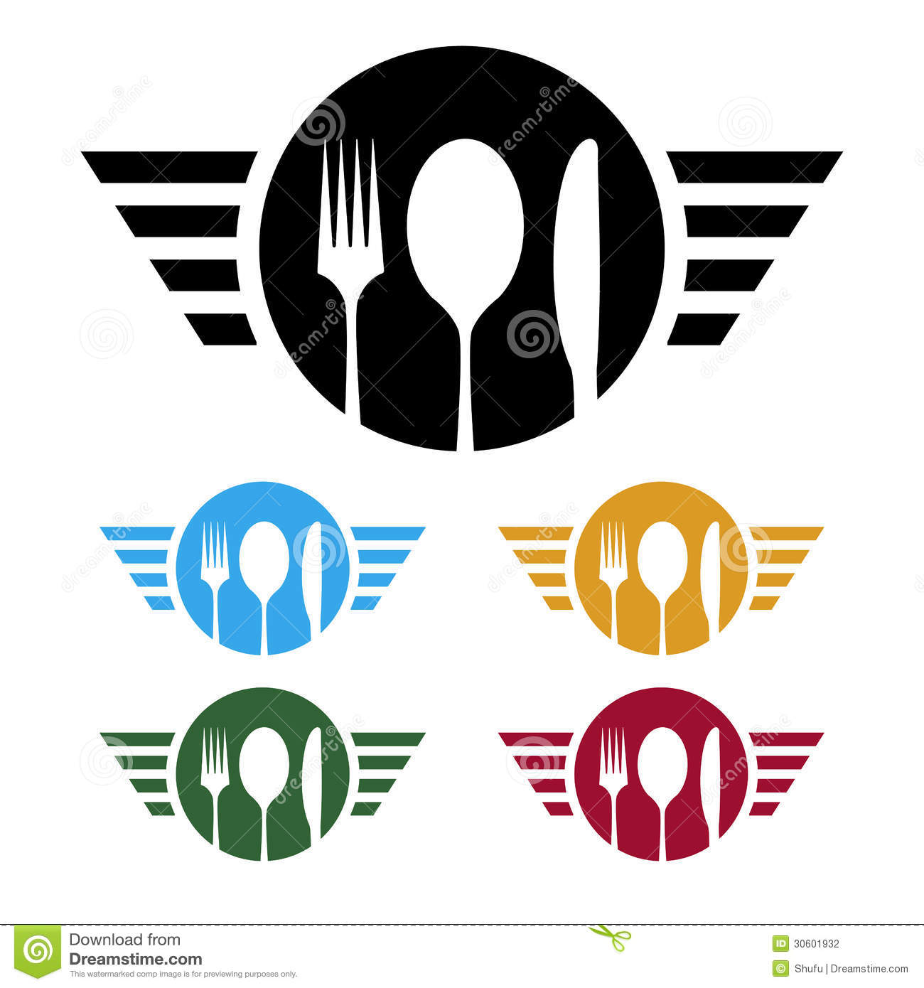 Food Business Logo Stock graphy Image