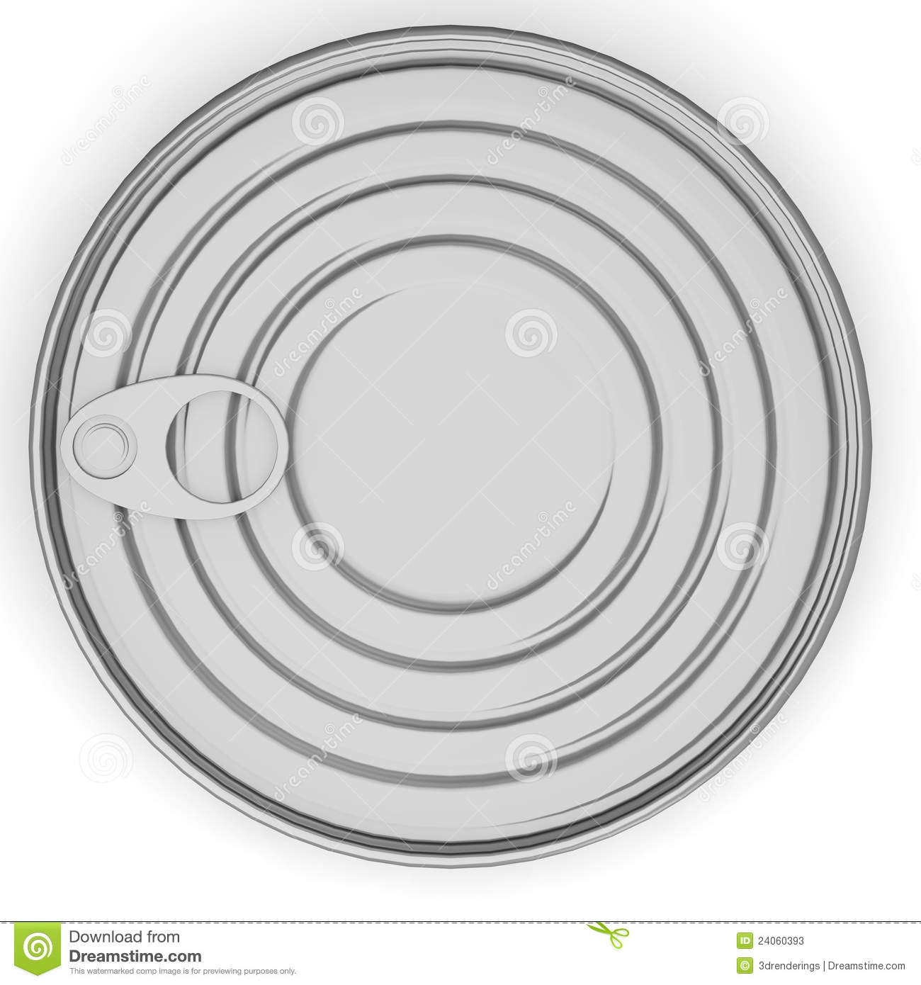 Food Can From Top Stock Illustration. Image Of Dinner