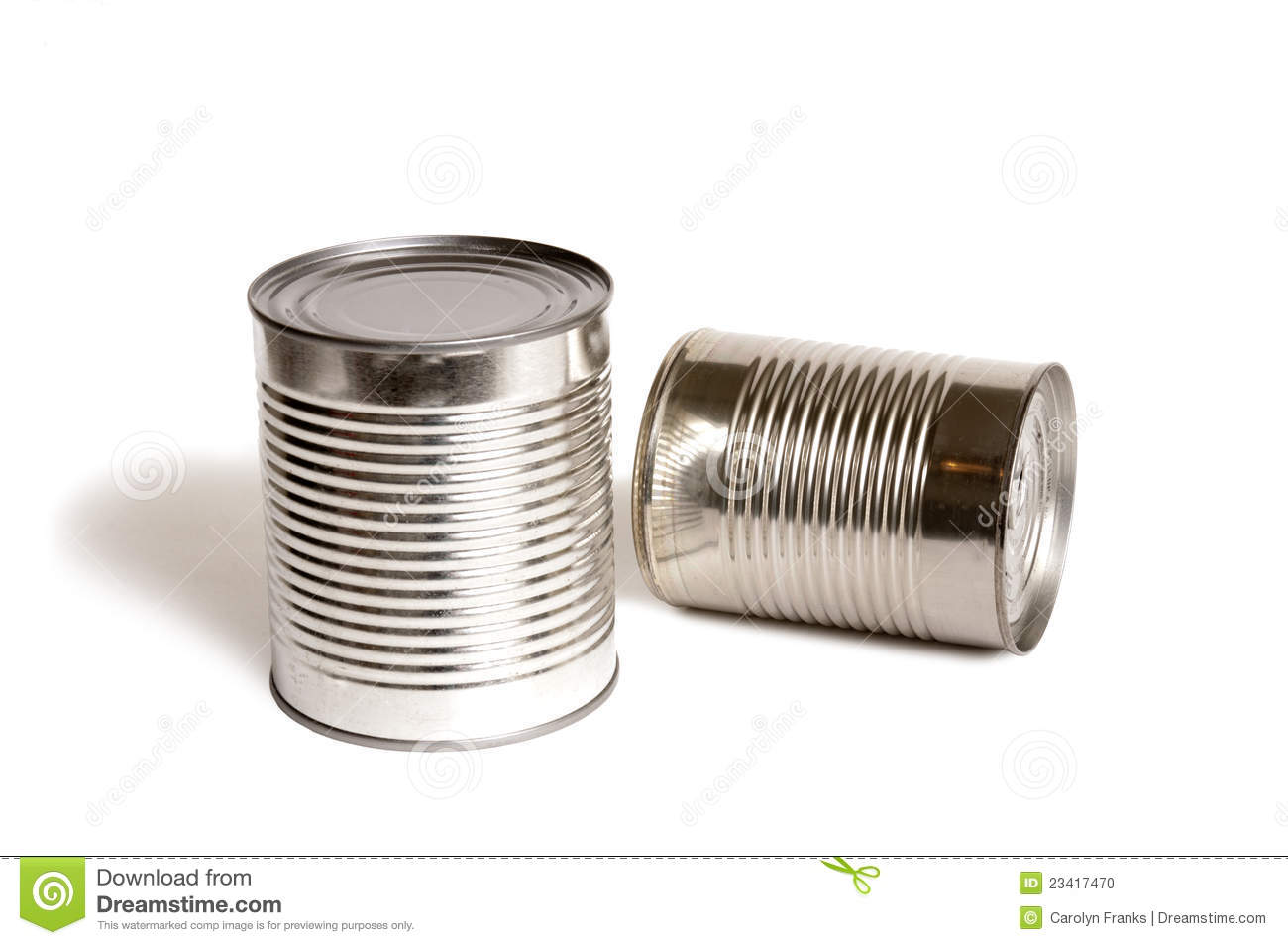 Two shiny food tin cans with no labels on them. How can you tell what ...
