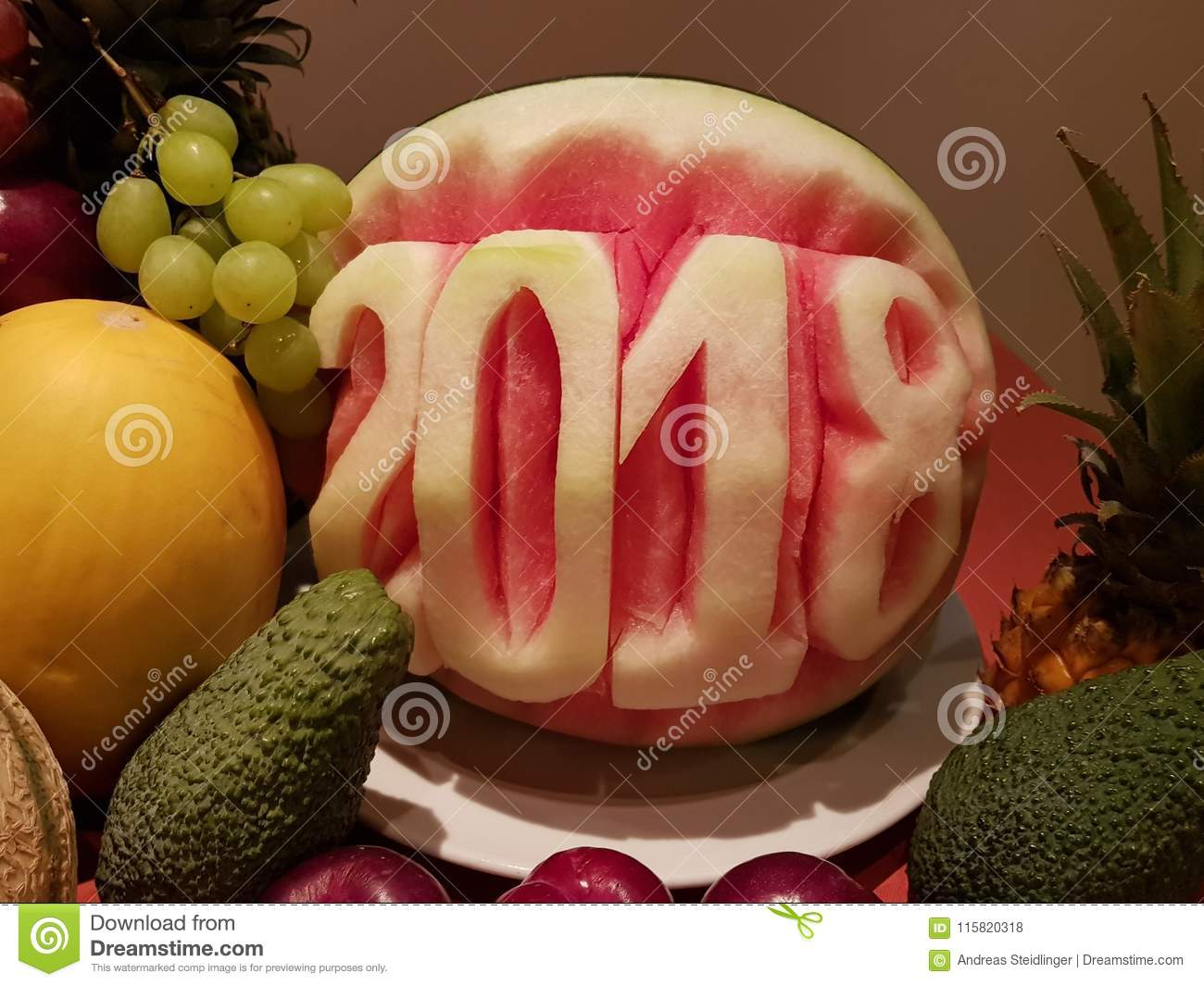 Food Carving Examples Stock Photo Image Of Design Hand 115820318
