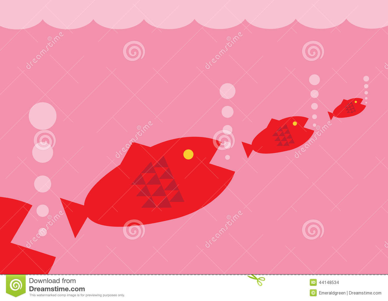 Food Chain Stock Vector Illustration Of Vector Marine 44148534