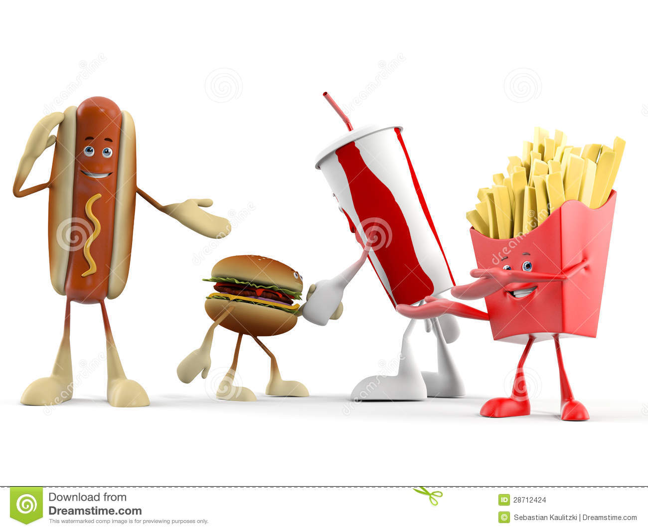 Food Character - Fast Food Stock Images - Image: 28712424