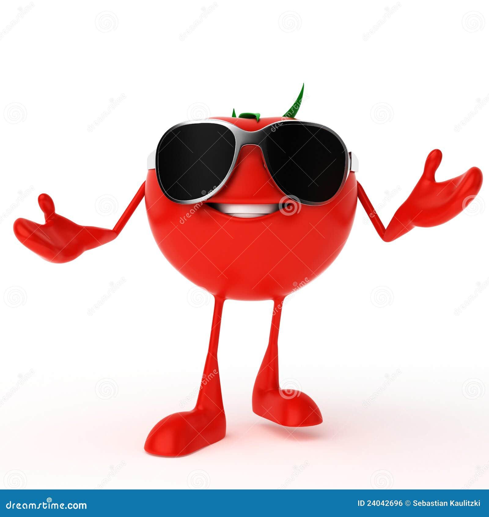 Food Character - Tomato Royalty Free Stock Image - Image: 24042696